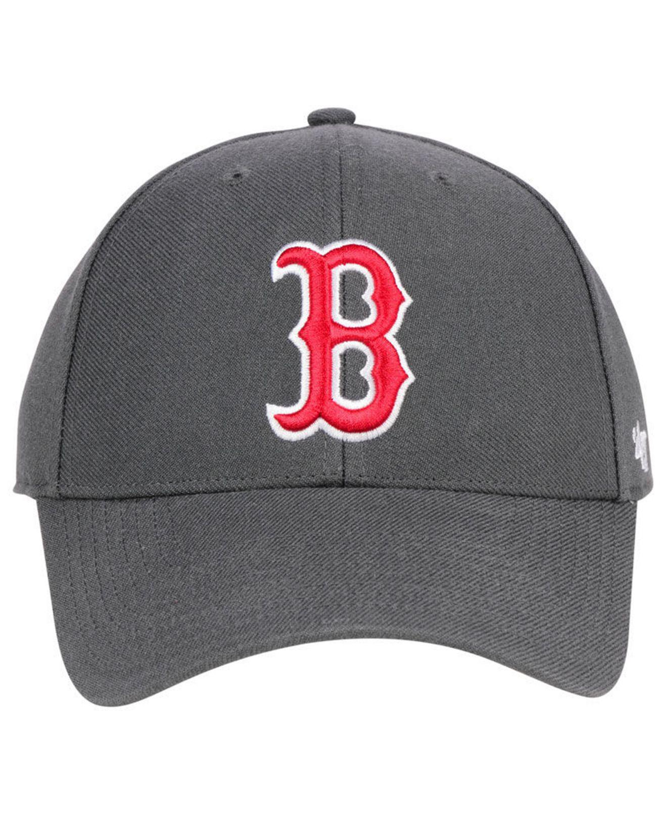 27120d5d80123 Lyst - 47 Brand Boston Red Sox Charcoal Mvp Cap in Gray for Men