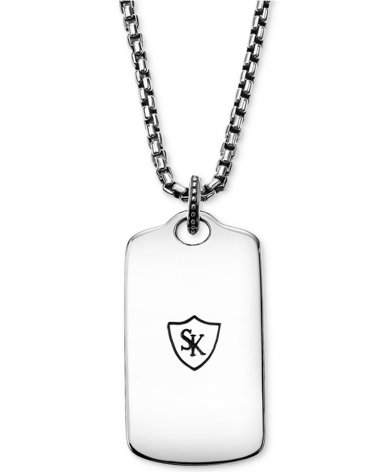 Lyst scott kay mens textured dog tag pendant necklace in sterling lyst scott kay mens textured dog tag pendant necklace in sterling silver in metallic for men aloadofball Gallery
