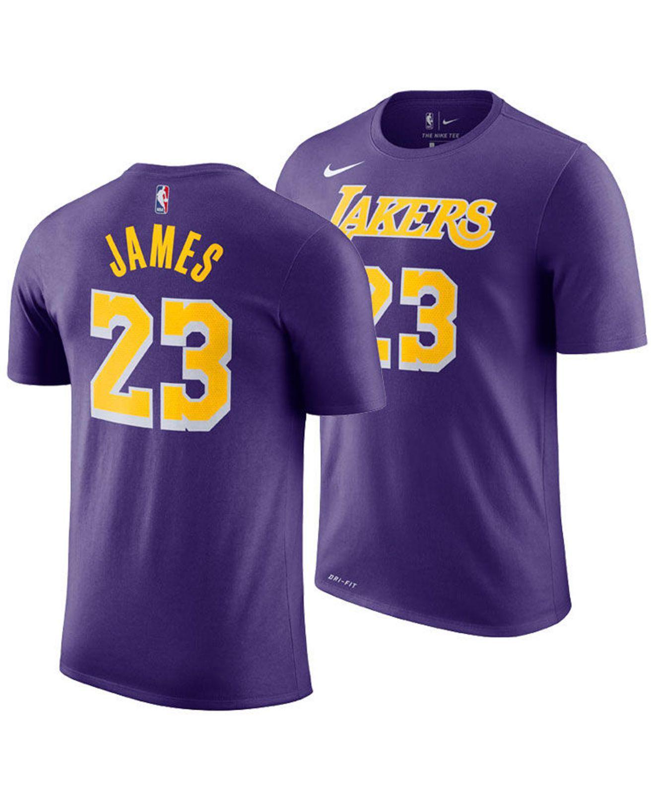 wholesale dealer 04d10 5fd52 Nike. Men s Purple Lebron James Los Angeles Lakers Icon Player T-shirt