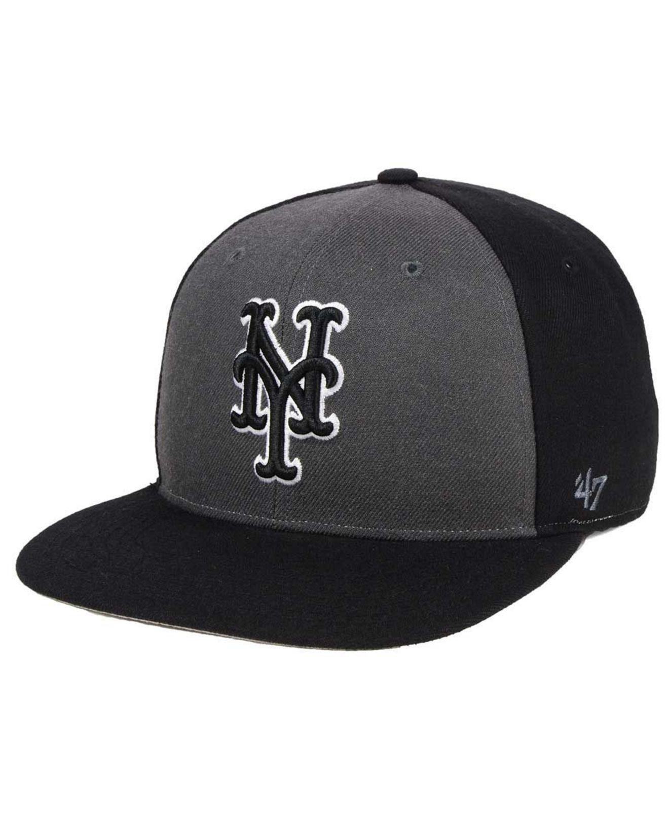 new product 31aaa 3ea0a Lyst - 47 Brand Black Sure Shot Accent Snapback Cap in Black for Men