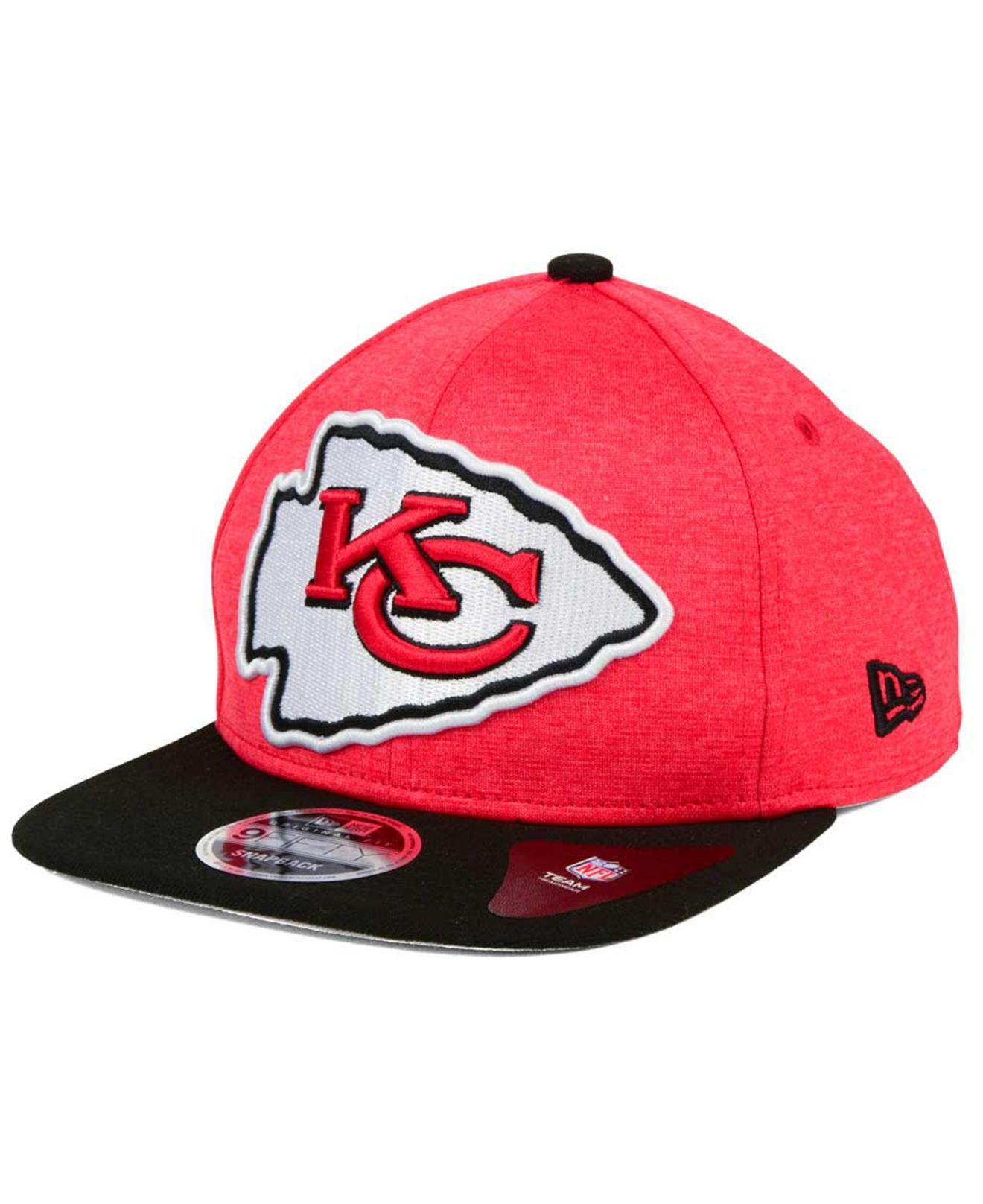 84fbd2abd4e Lyst - KTZ Kansas City Chiefs Heather Huge 9fifty Snapback Cap in ...