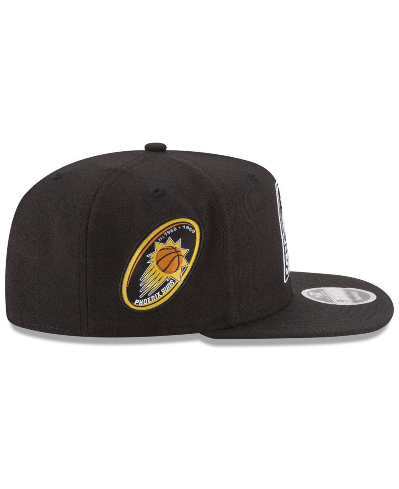 finest selection 0a711 b73fb KTZ Phoenix Suns Anniversary Patch 9fifty Snapback Cap in Black for Men -  Lyst