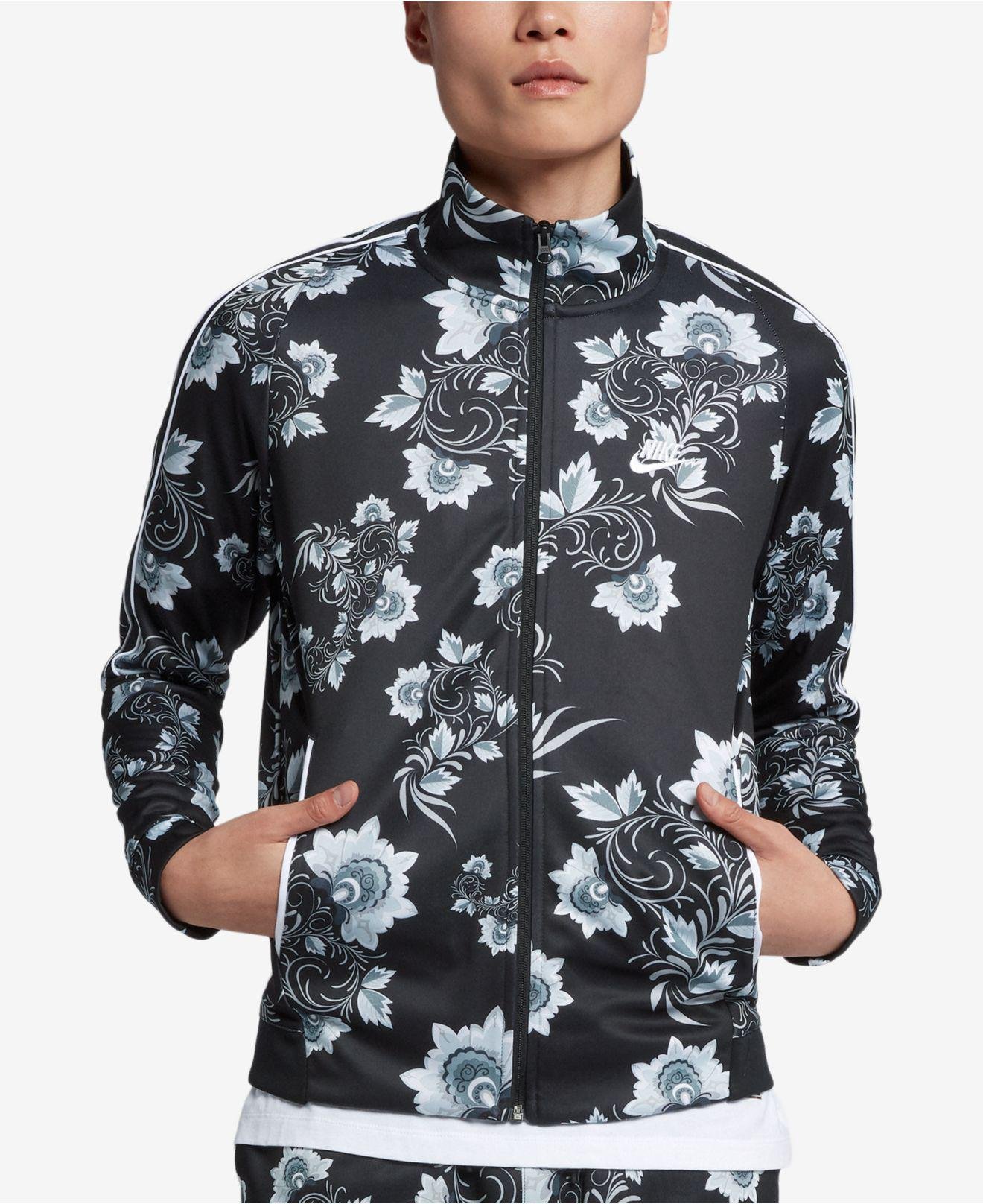 5bd7eeed1ba6 Lyst - Nike Russian-floral Inspired Track Jacket in White for Men