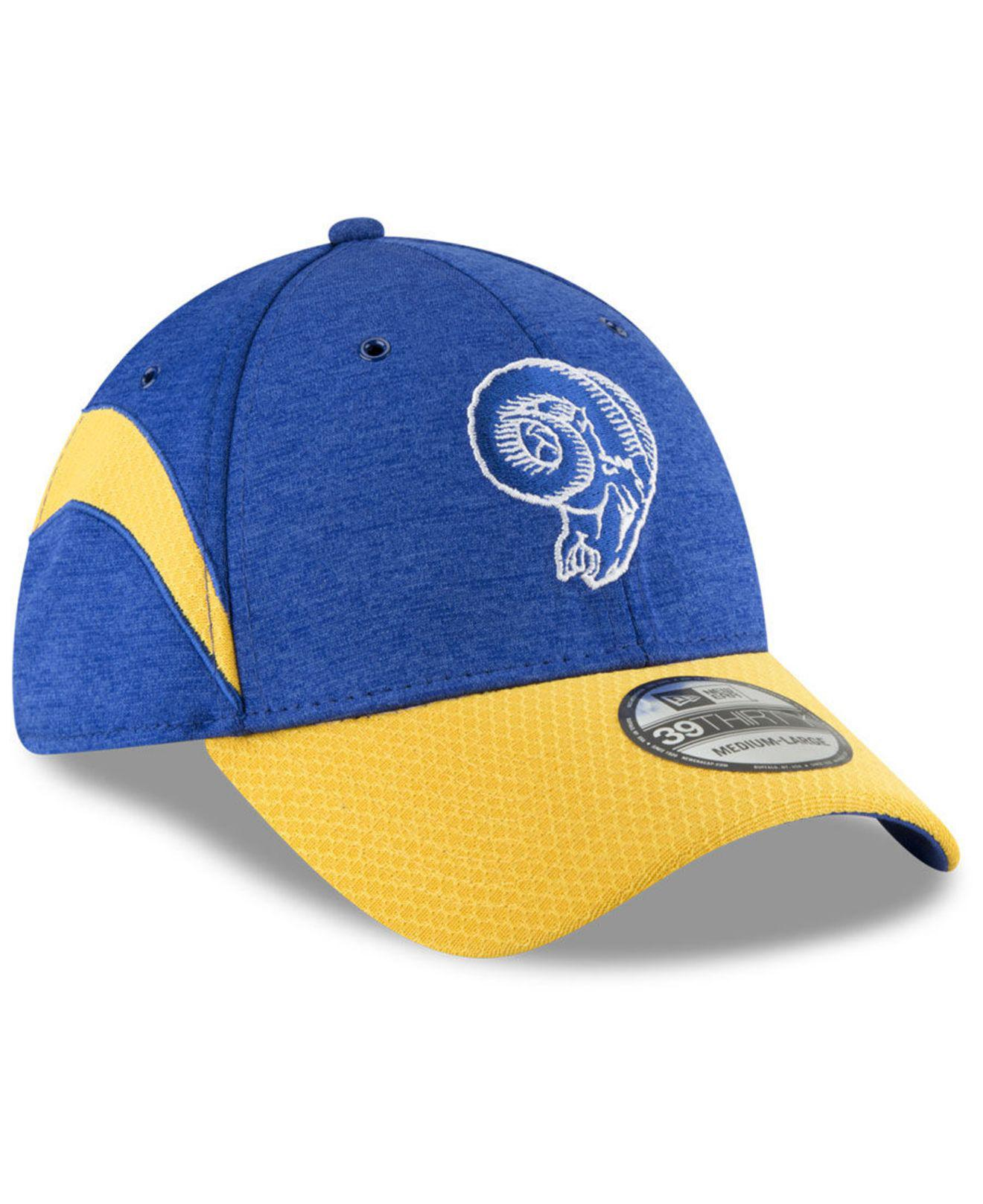 new concept ebacc 1b35d KTZ - Blue Los Angeles Rams On Field Sideline Home 39thirty Cap for Men -  Lyst. View fullscreen