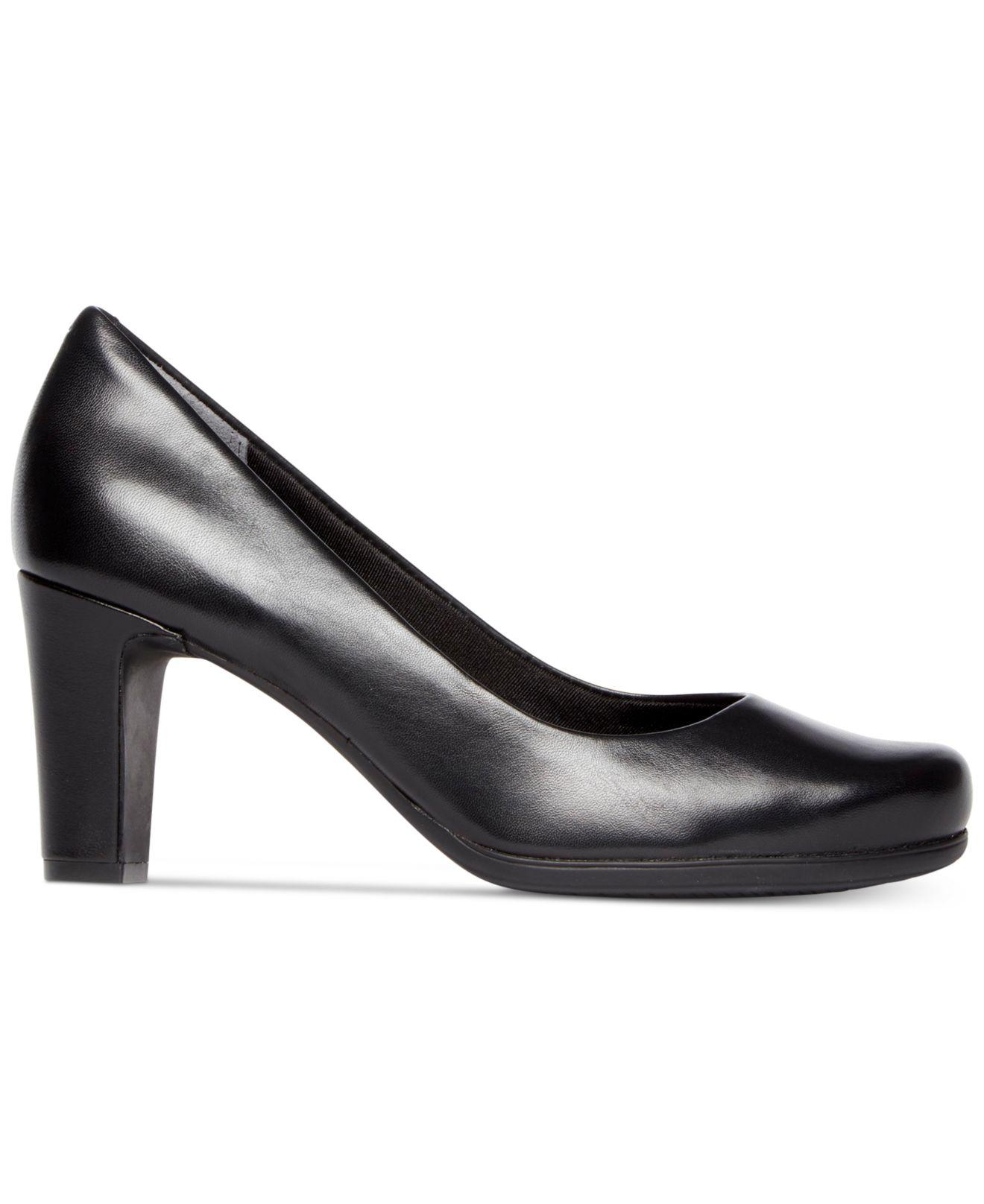 339b57907adf Lyst - Rockport Total Motion Round-toe Pumps in Black - Save 46%