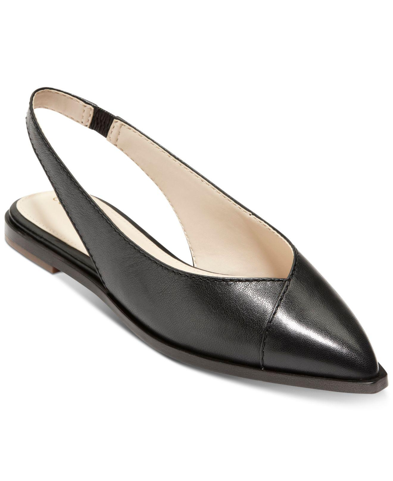 0ebbbb12ee4 Lyst - Cole Haan Anora Skimmer Flats in Black
