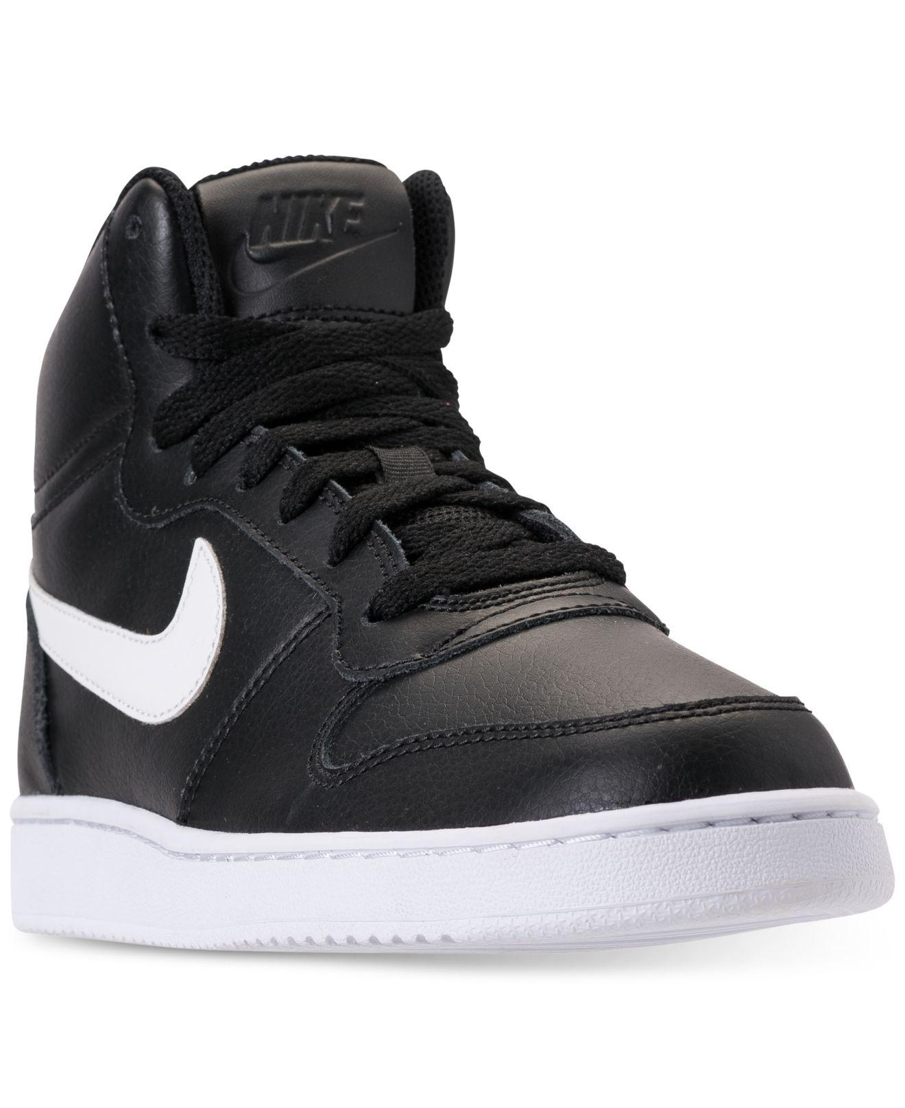 f1ad656c8fa Lyst - Nike Ebernon Mid Casual Sneakers From Finish Line in Black