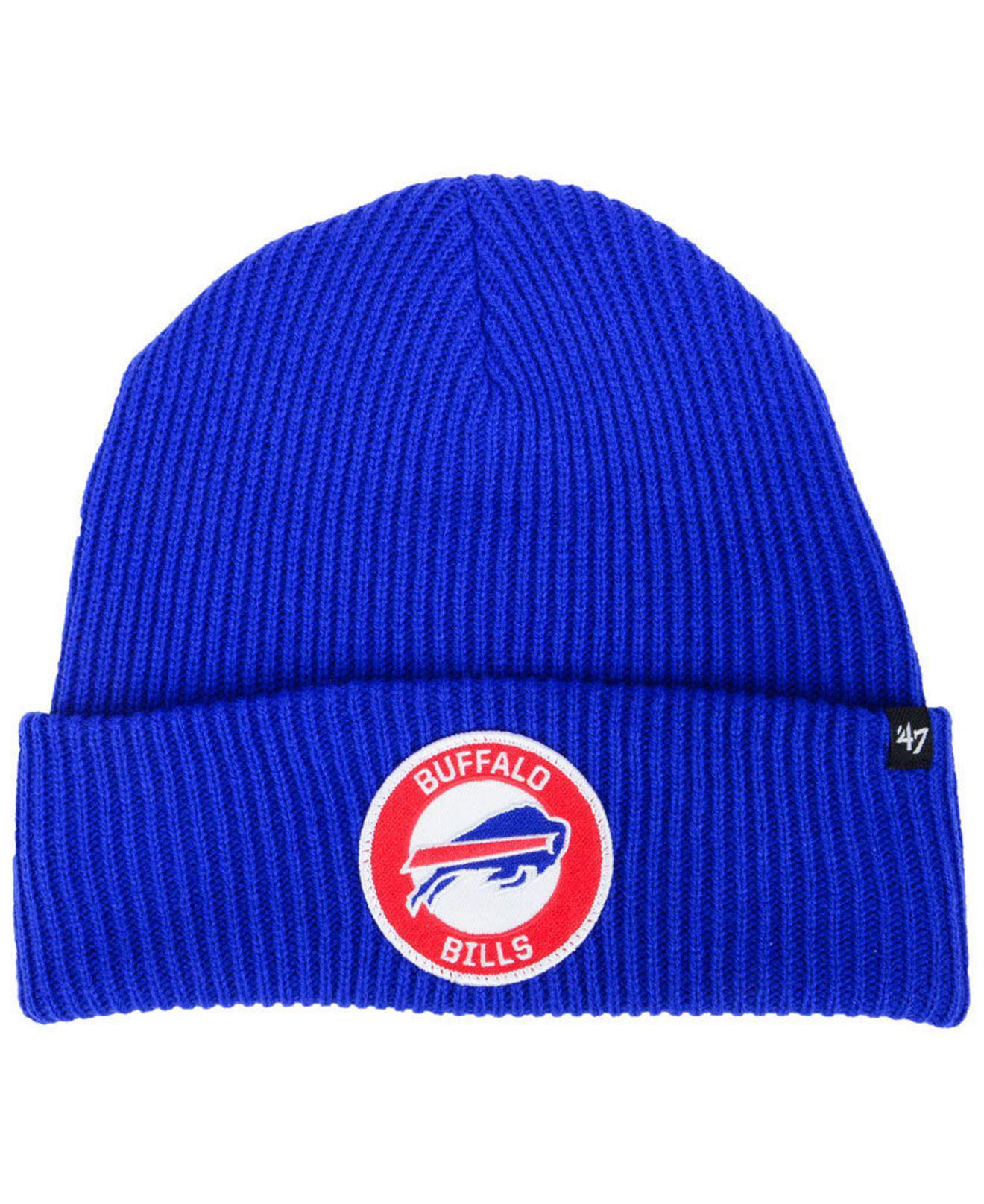 best sneakers fac3e e1202 ... canada lyst 47 brand buffalo bills ice block cuff knit hat in blue for  men 7c21f