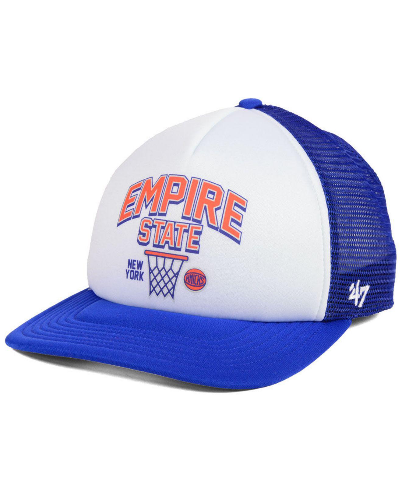 online store 3095a 60eed ... spain 47 brand. mens blue new york knicks region mesh mvp cap a44e7  224a4