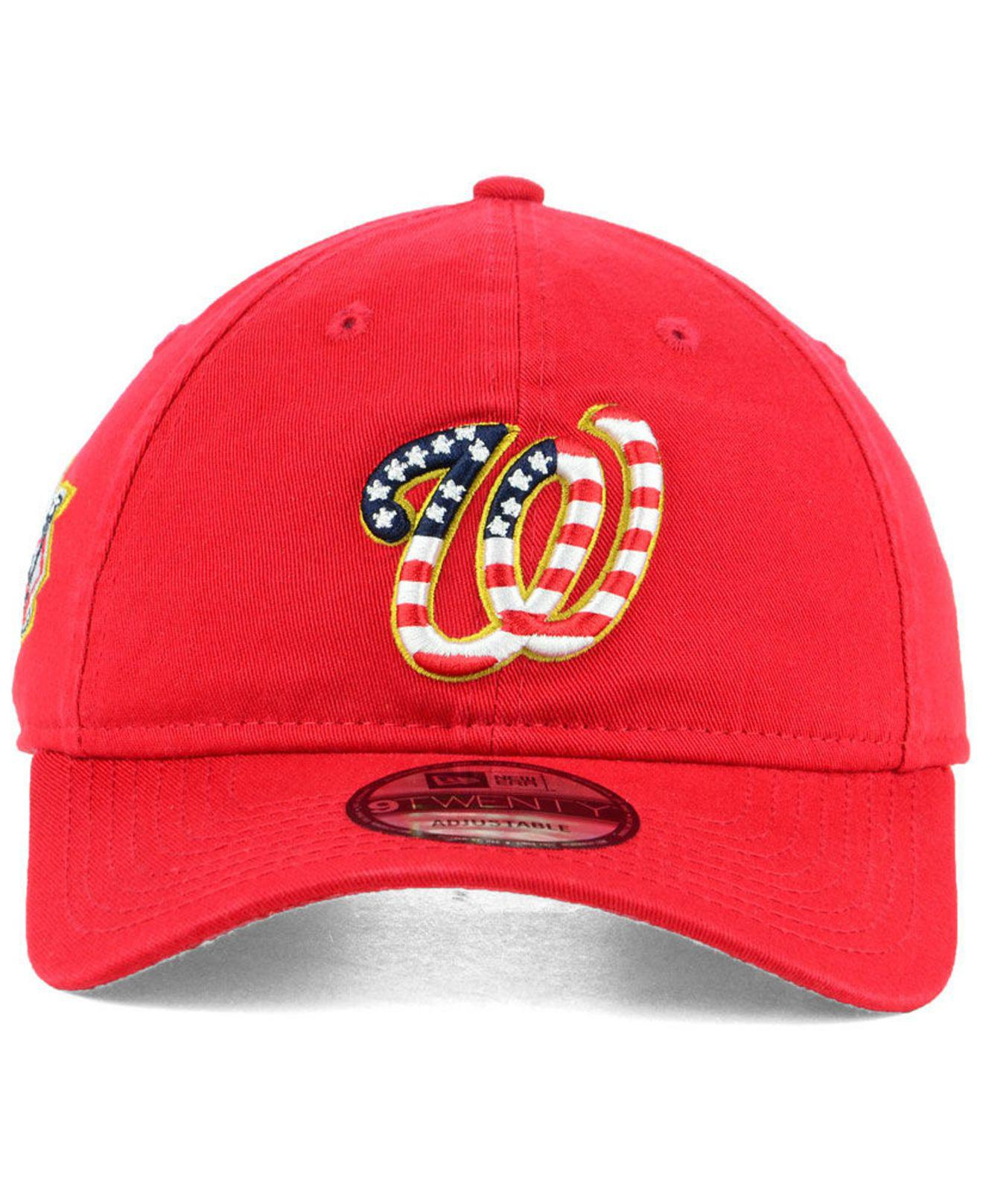 low priced 2a30b 2edb6 Lyst - KTZ Washington Nationals Stars And Stripes 9twenty Strapback Cap in  Red for Men