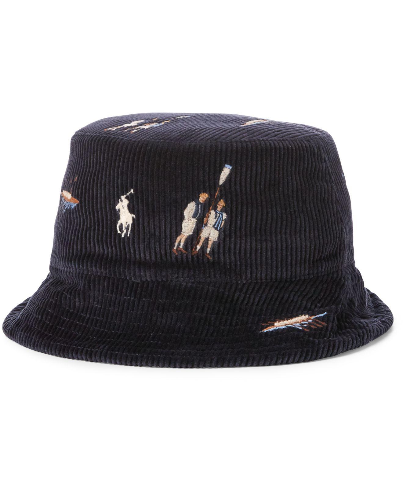 ae8794b20de Lyst - Polo Ralph Lauren Reversible Chino Bucket Hat in Blue for Men
