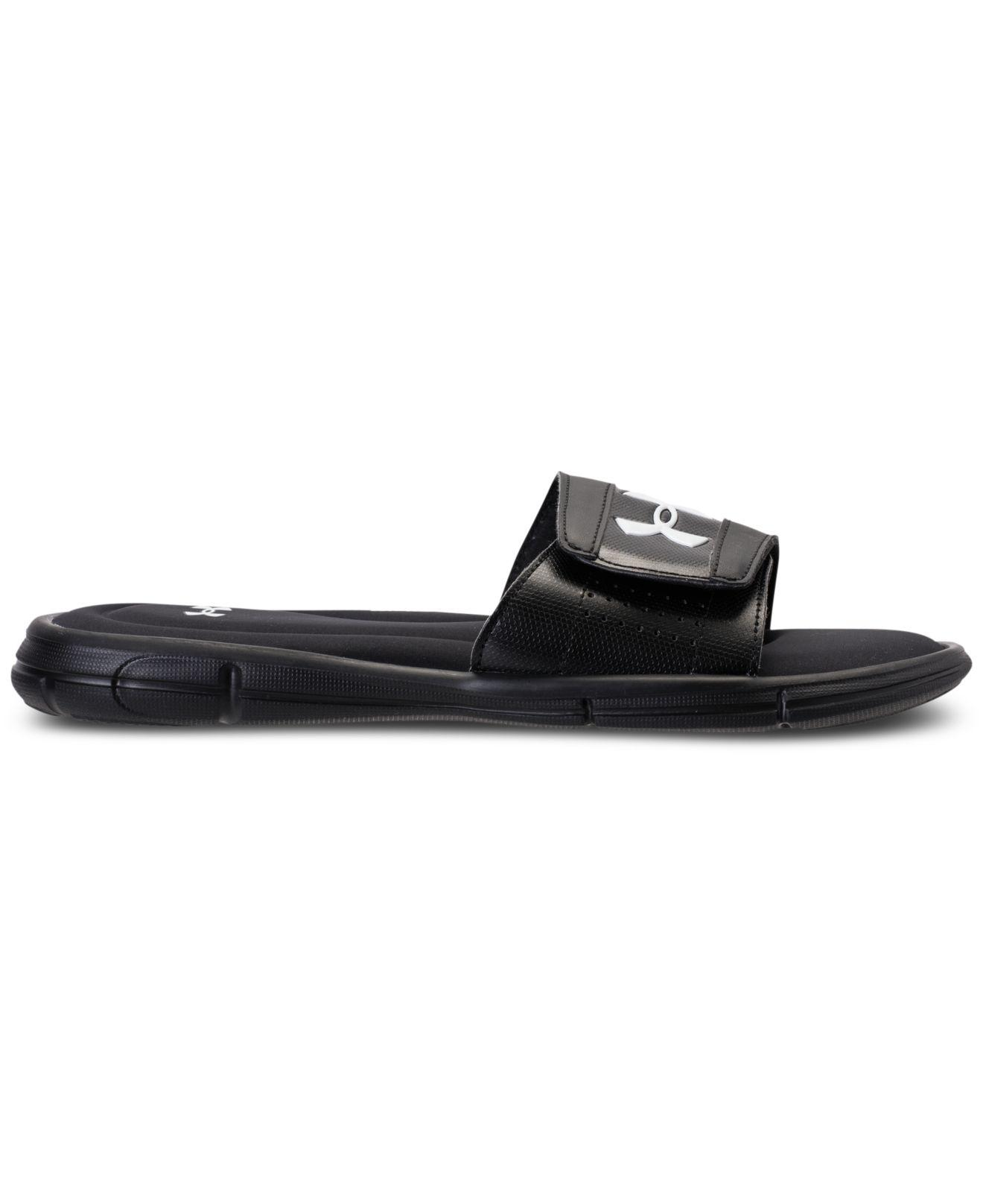 fafd0d4c20f Lyst - Under Armour Ignite V Slide Sandals From Finish Line in Black for Men  - Save 15%