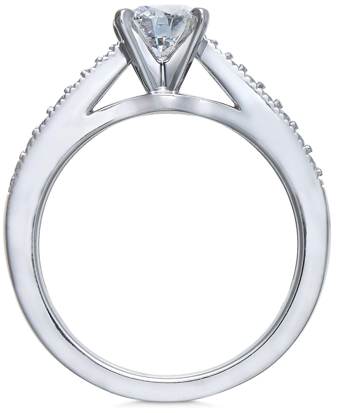 Macy s Diamond Bridal Set 1 Ct T w In 14k White Gold in White