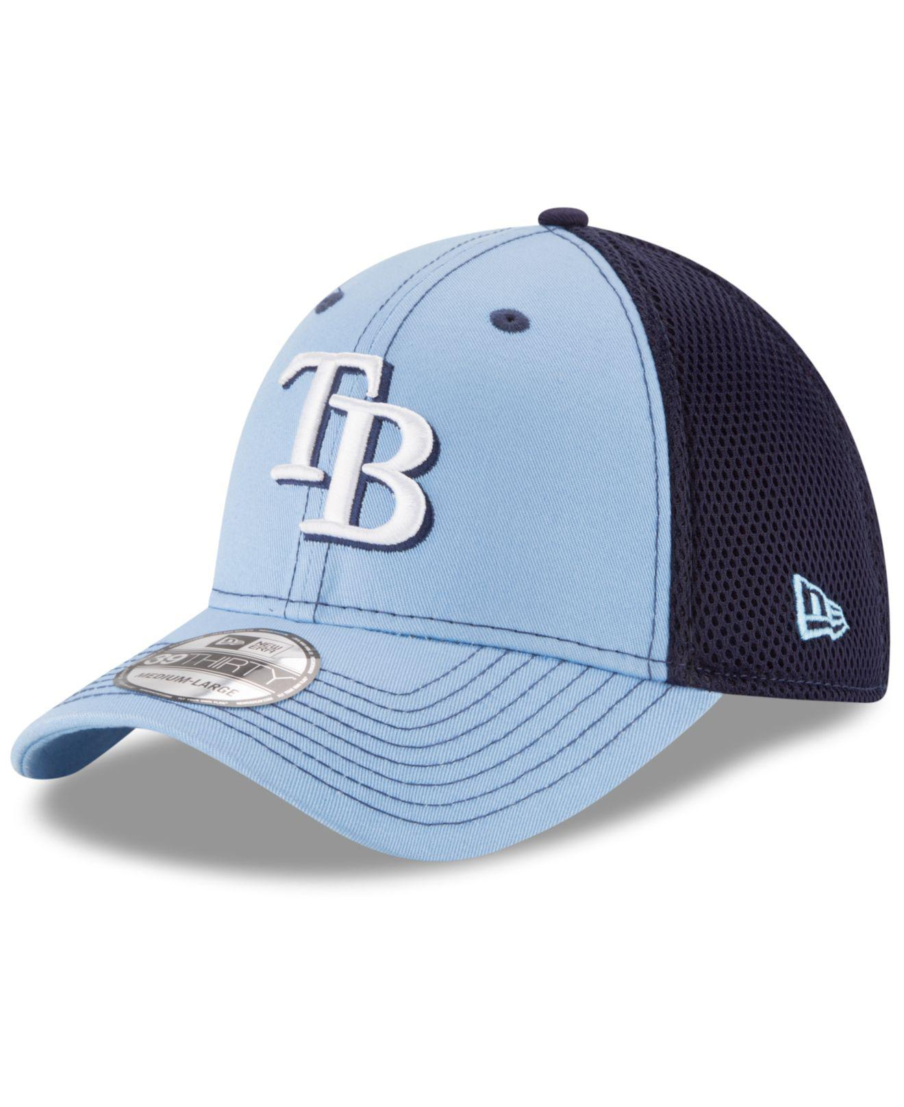 Lyst - KTZ Tampa Bay Rays Team Front Neo 39thirty Cap in Black for Men a9ab13320