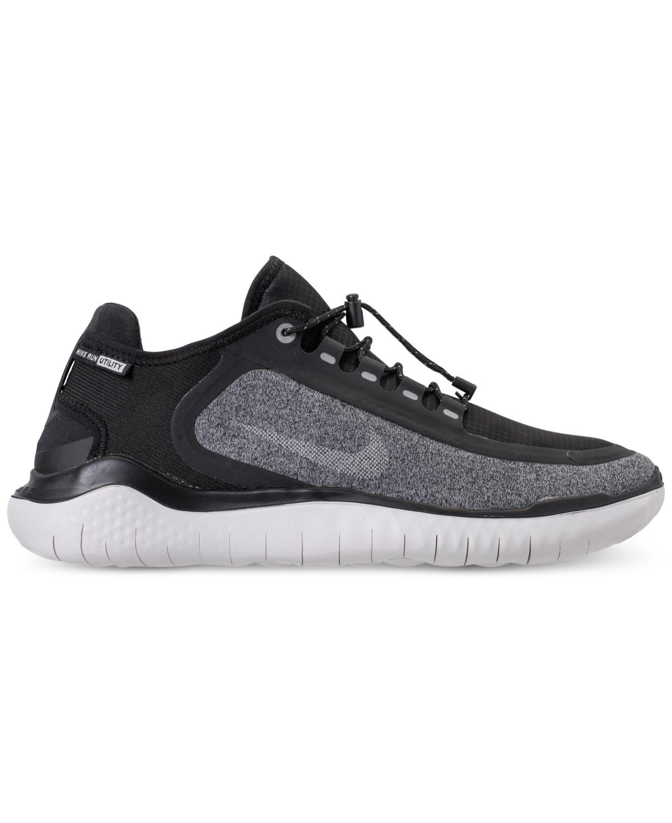 Lyst - Nike Free Rn 2018 Shield Running Sneakers From Finish Line in Black  for Men 0941a3127