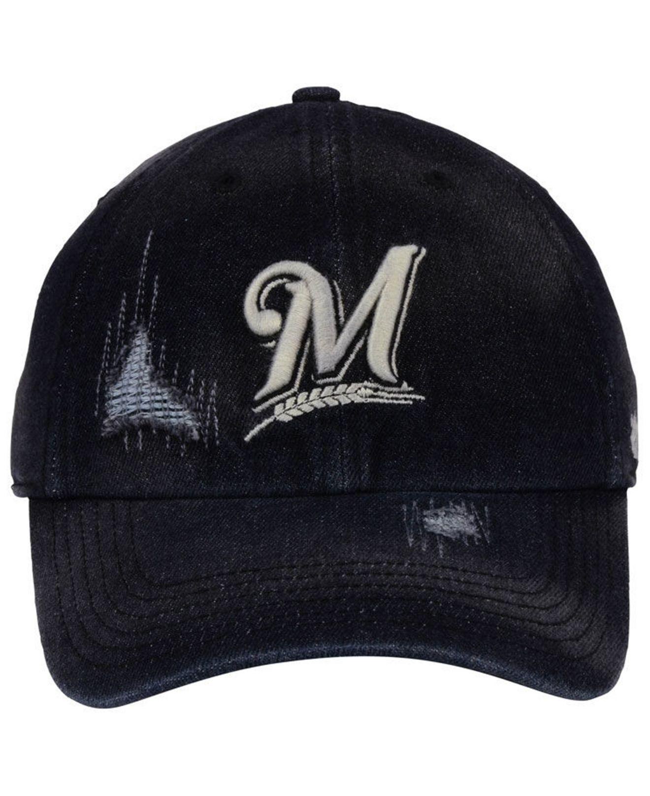 Lyst - 47 Brand Milwaukee Brewers Dark Horse Clean Up Cap in Black for Men 3ac966060aaa