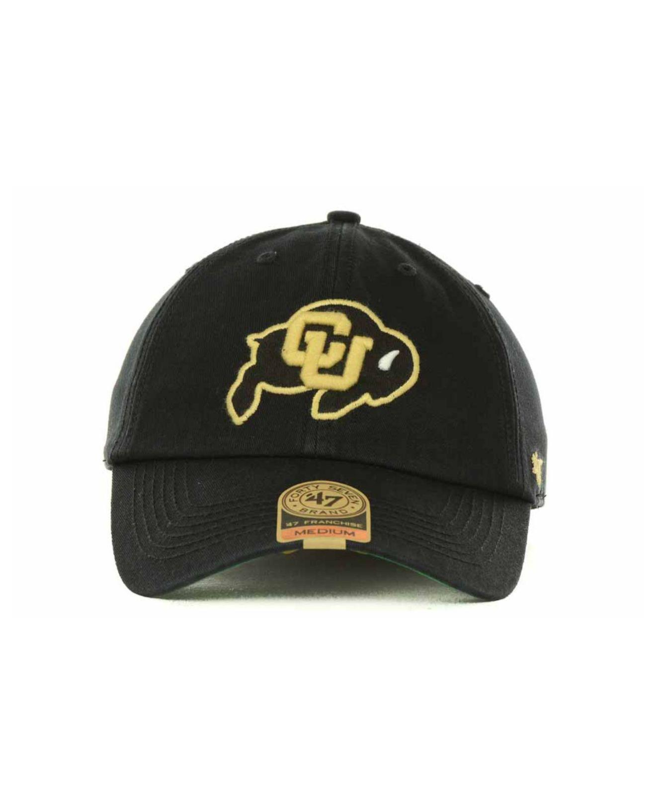 best service 1e6bb 09bfb ... real lyst 47 brand colorado buffaloes franchise cap in black for men  ef239 b6e8c