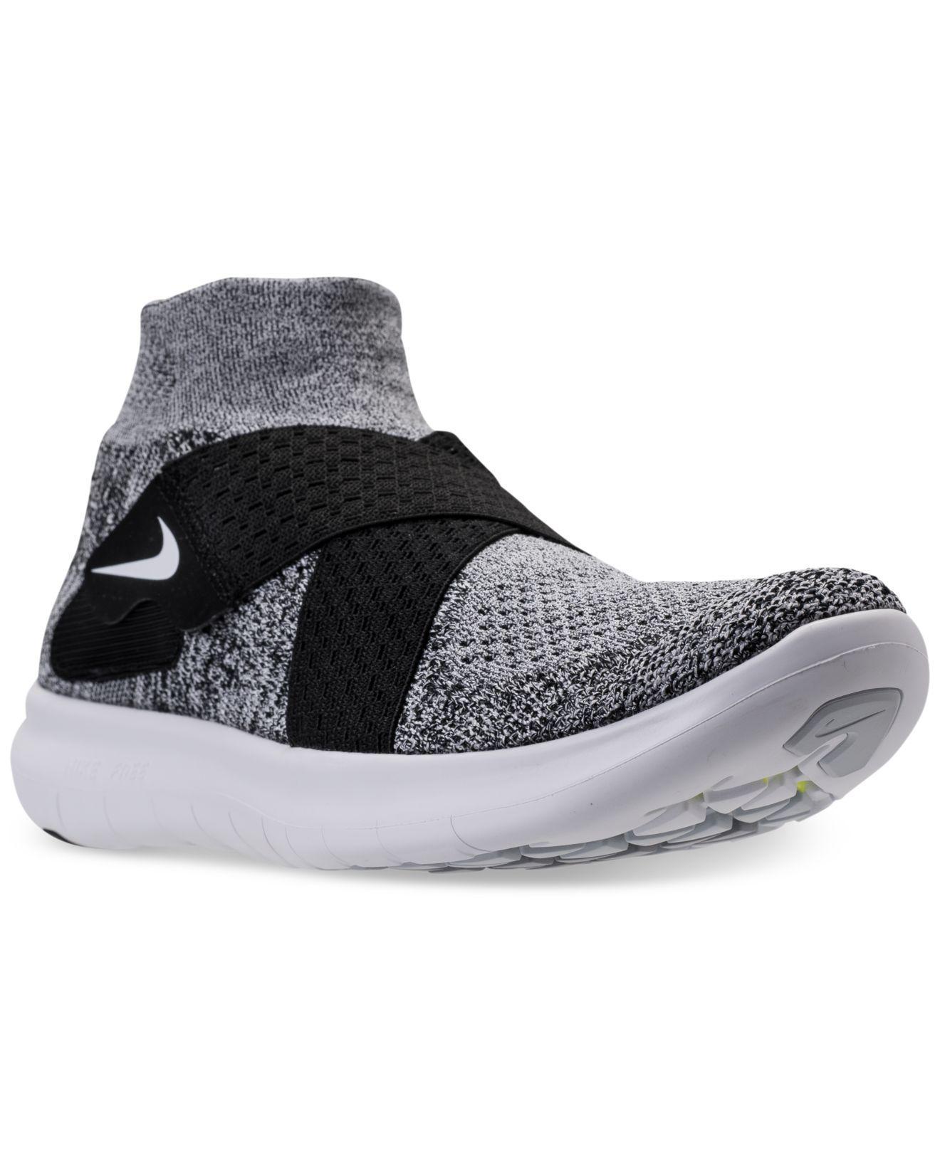 79bf2f6510338 ... shop lyst nike womens free run motion flyknit 2017 running sneakers  8c79d 74019 ...