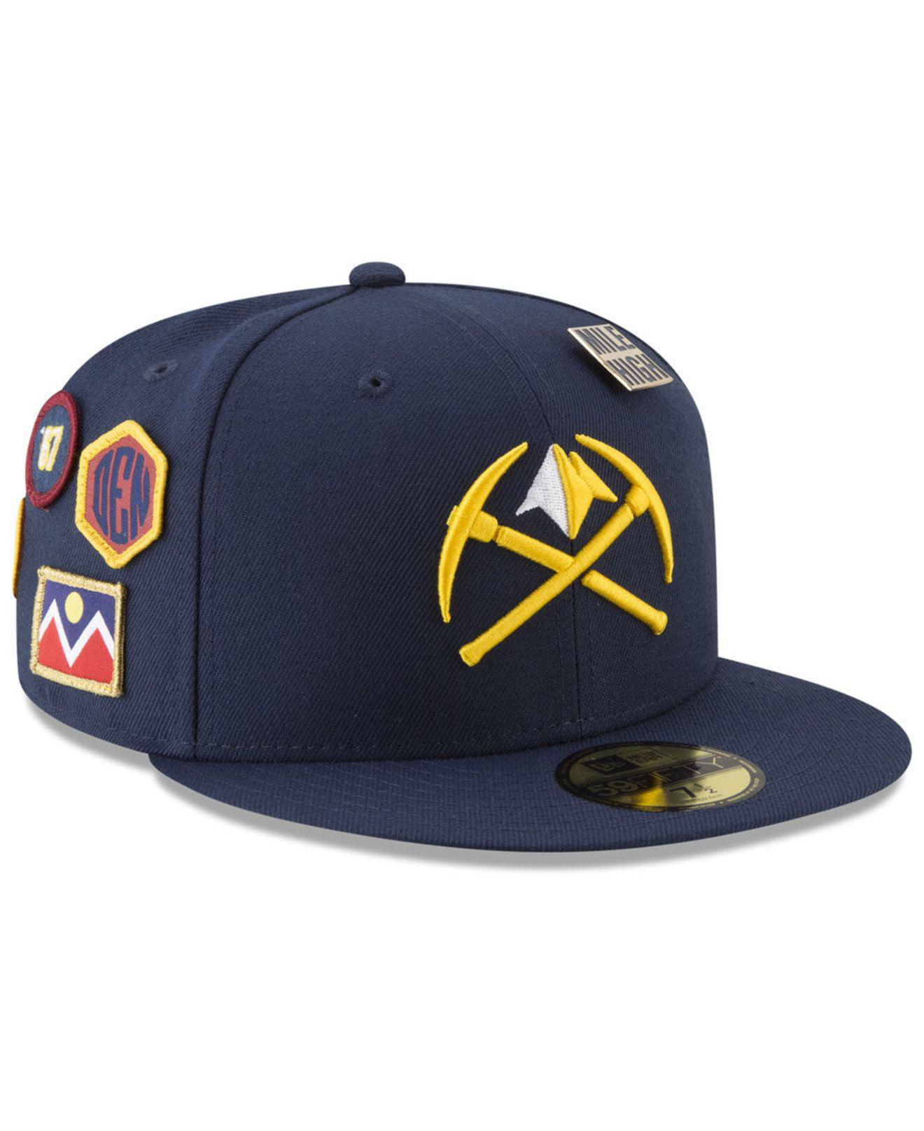 buy online 04055 57156 ... cheap lyst ktz denver nuggets city on court 59fifty fitted cap in blue  01e95 f0528
