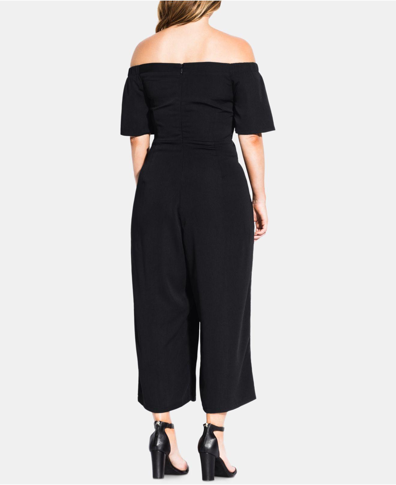 9f46cca5bd Lyst - City Chic Trendy Plus Size Tie-waist Jumpsuit in Black