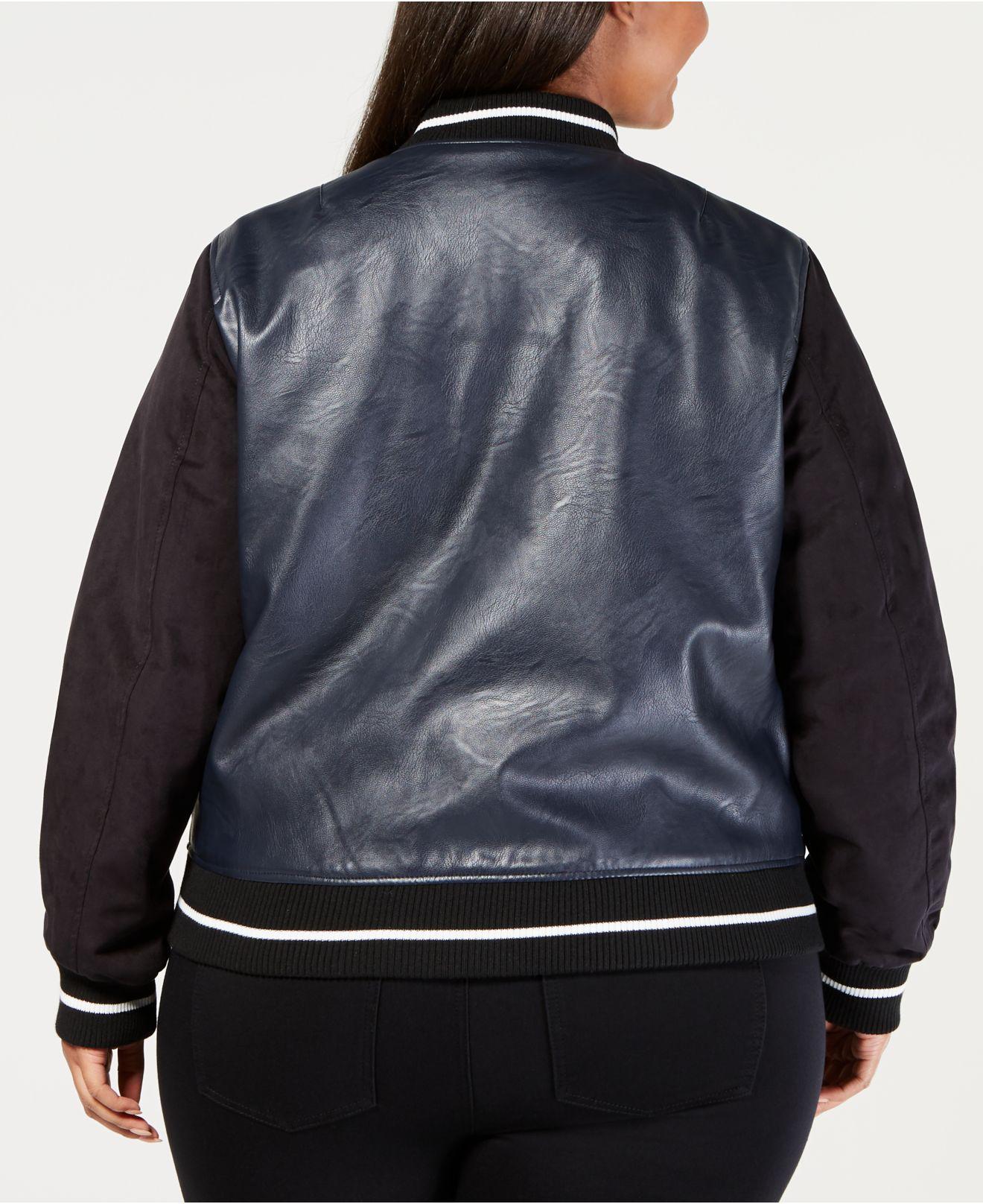 d9cd36b10d8 Lyst - Levi s ® Plus Size Faux-leather Varsity Bomber Jacket