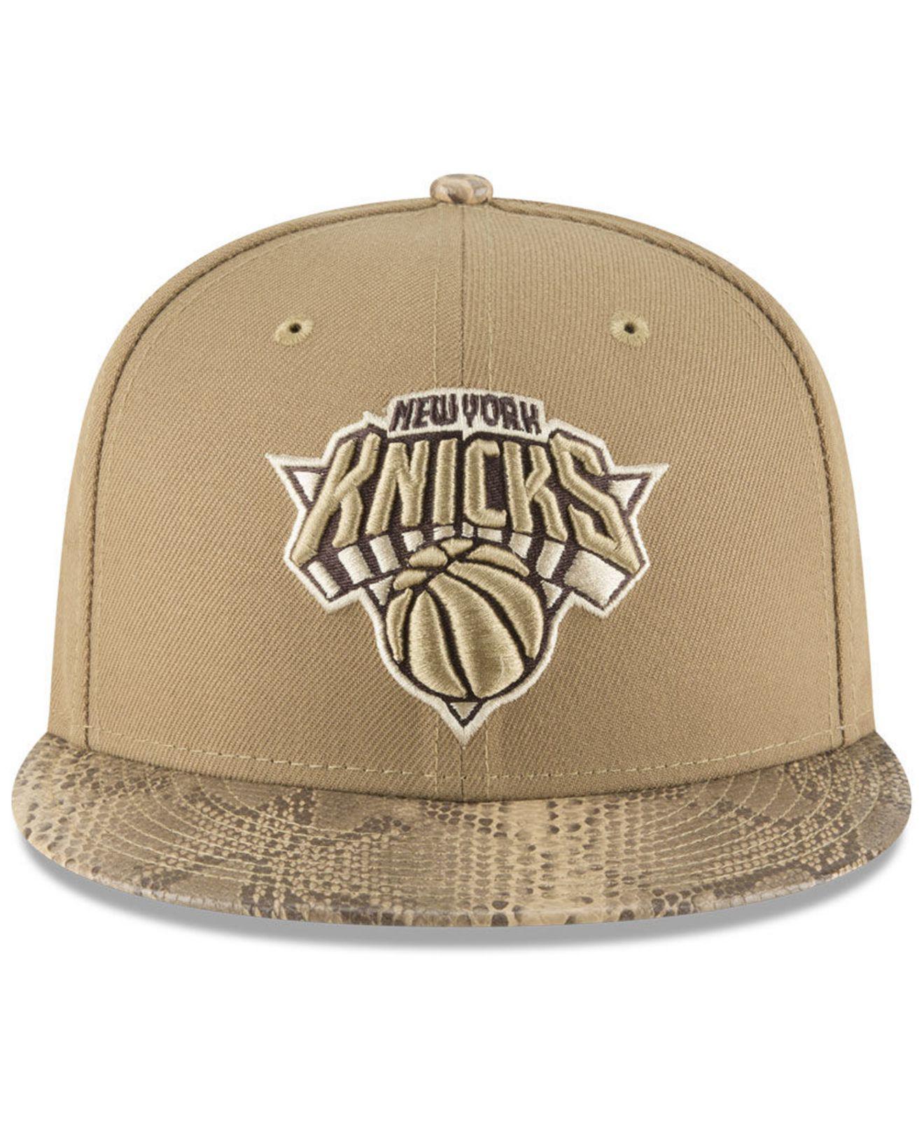wholesale dealer a635b 61c0a Lyst - KTZ New York Knicks Snakeskin Sleek 59fifty Fitted Cap for Men