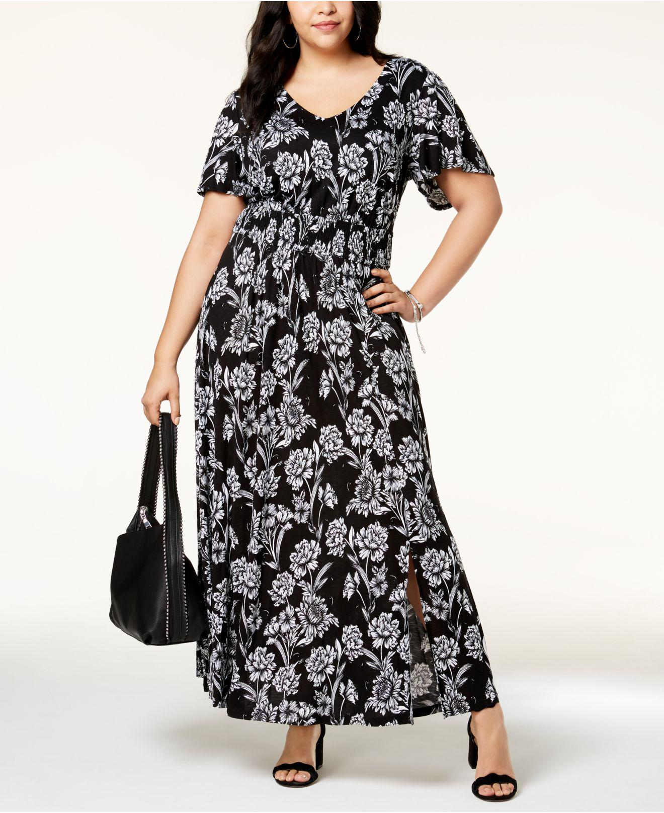 Plus Size Maxi Dresses With Flutter Sleeves