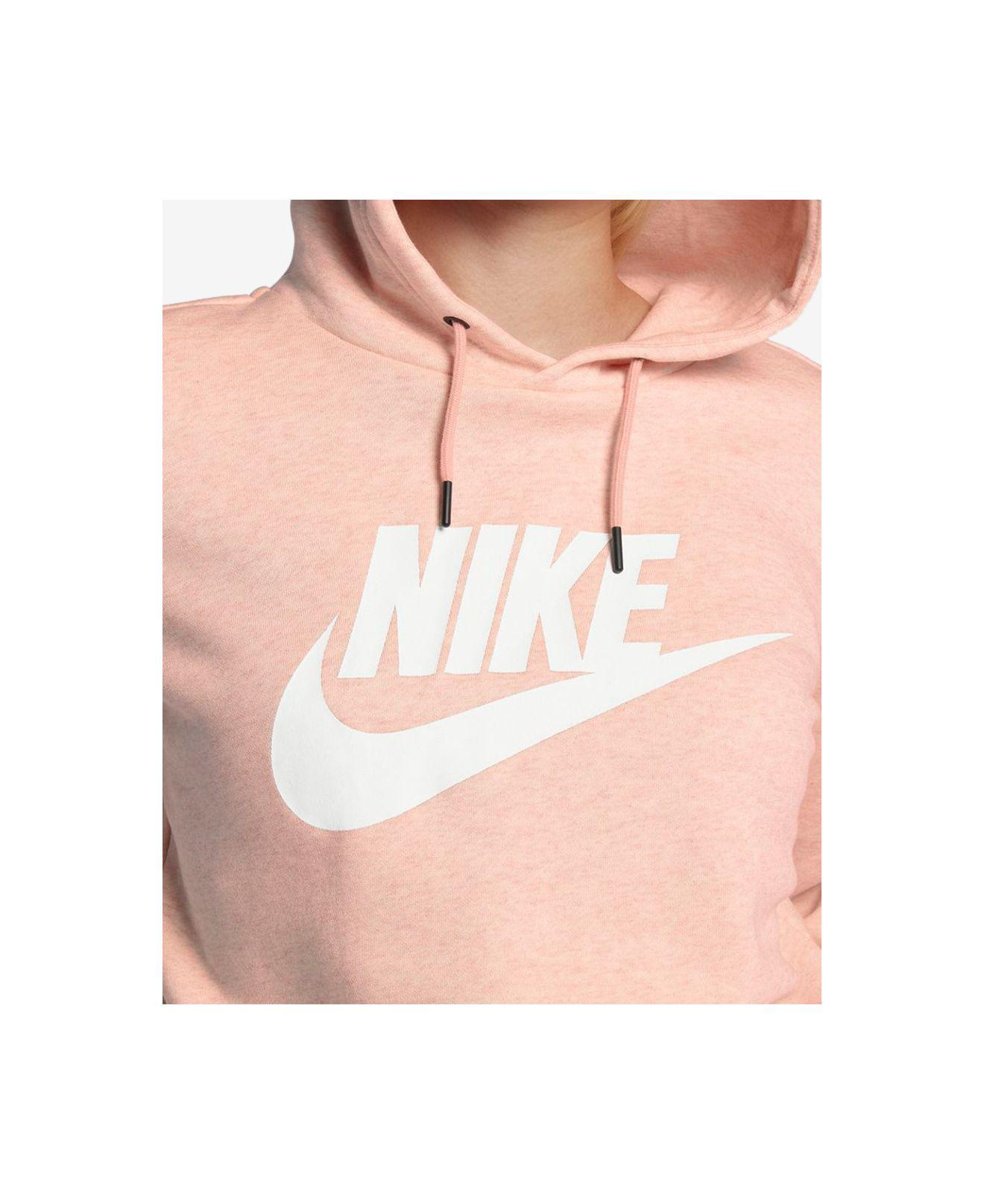 e60c89ccb88b6 Lyst - Nike Sportswear Rally Women s Cropped Hoodie in Pink - Save 52%