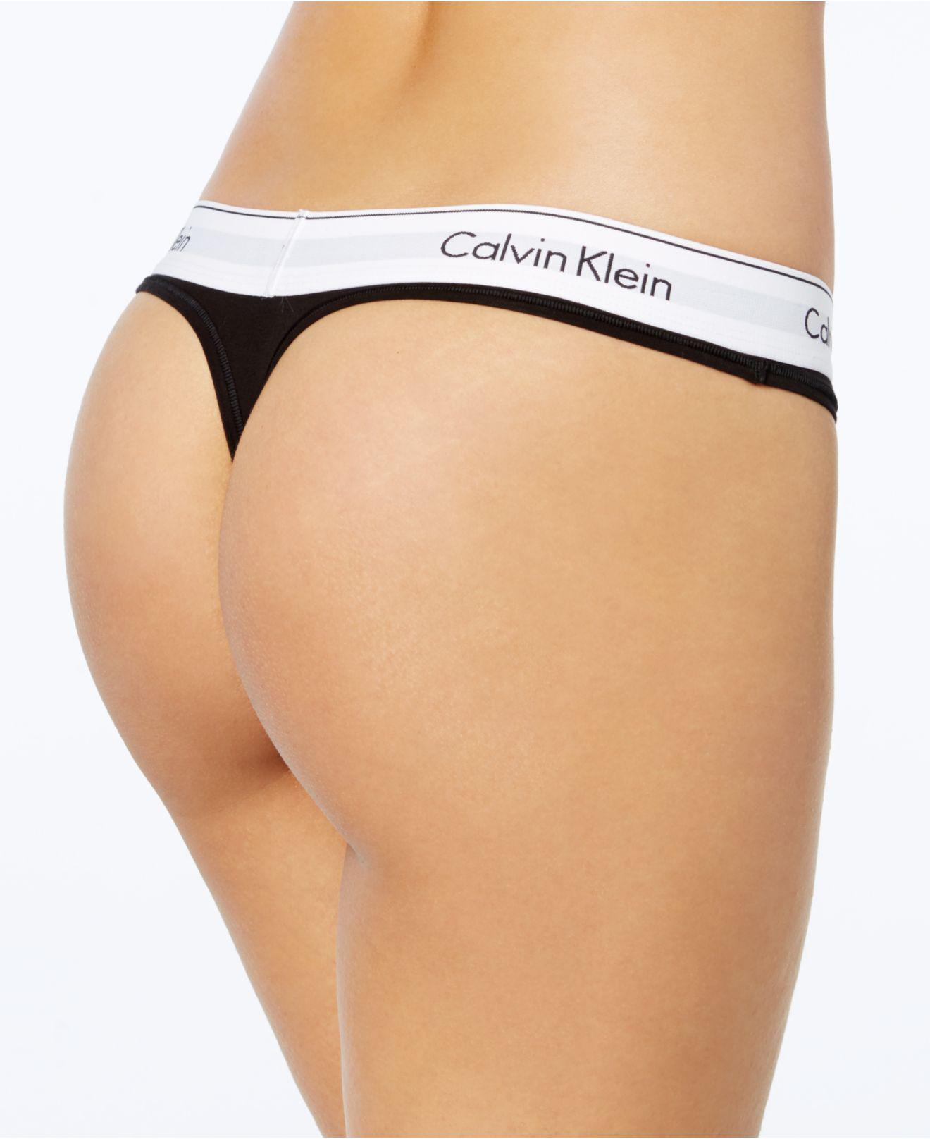 c74c39e3f99dc Lyst - Calvin Klein Modern Cotton Thong F3786 in White