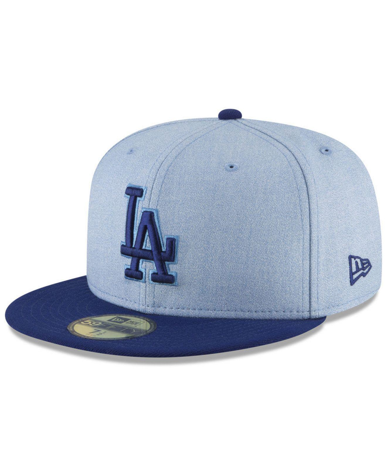 official photos 43e96 3a60e KTZ Los Angeles Dodgers Father s Day 59fifty Fitted Cap 2018 in Blue ...