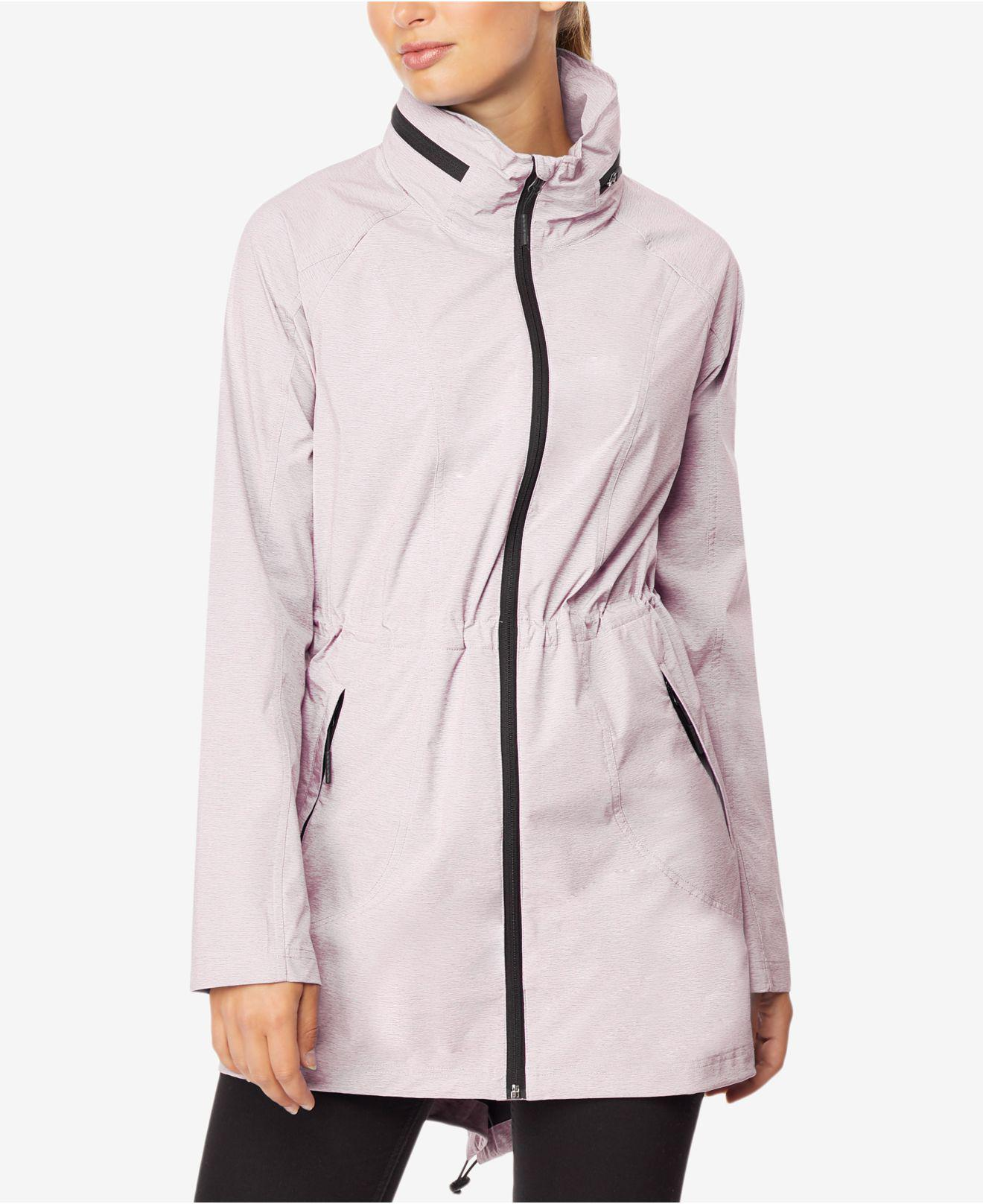 cc1885666a43c Lyst - 32 Degrees Hooded Cinched-waist Anorak Raincoat in Pink