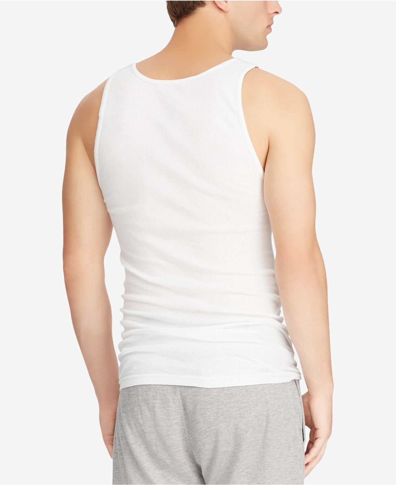 6c0d49f4b6ced1 Lyst - Polo Ralph Lauren Big   Tall 2-pk. Cotton Tank Tops in White for Men