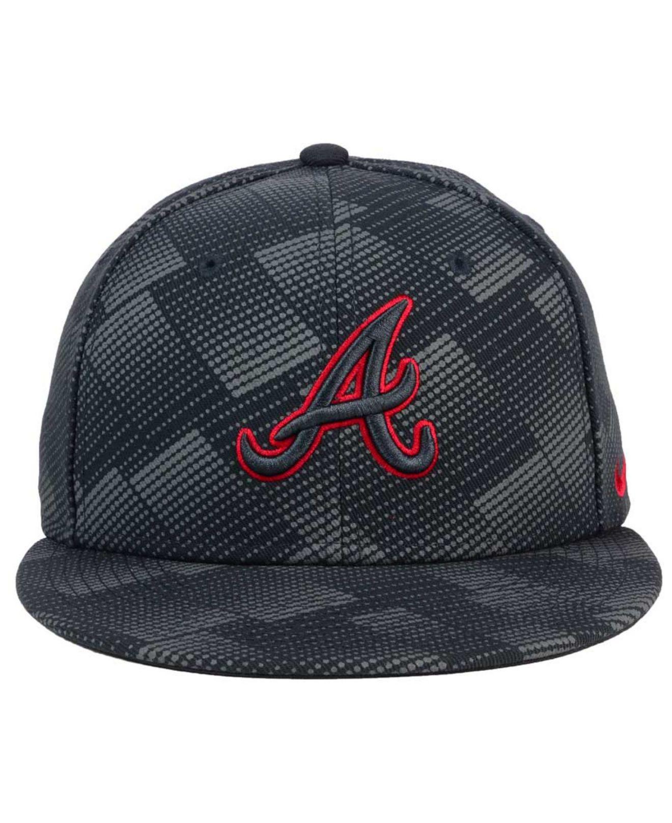 dd63beaa ... where can i buy lyst nike atlanta braves anthracite snapback cap for  men 700ab 17e9a