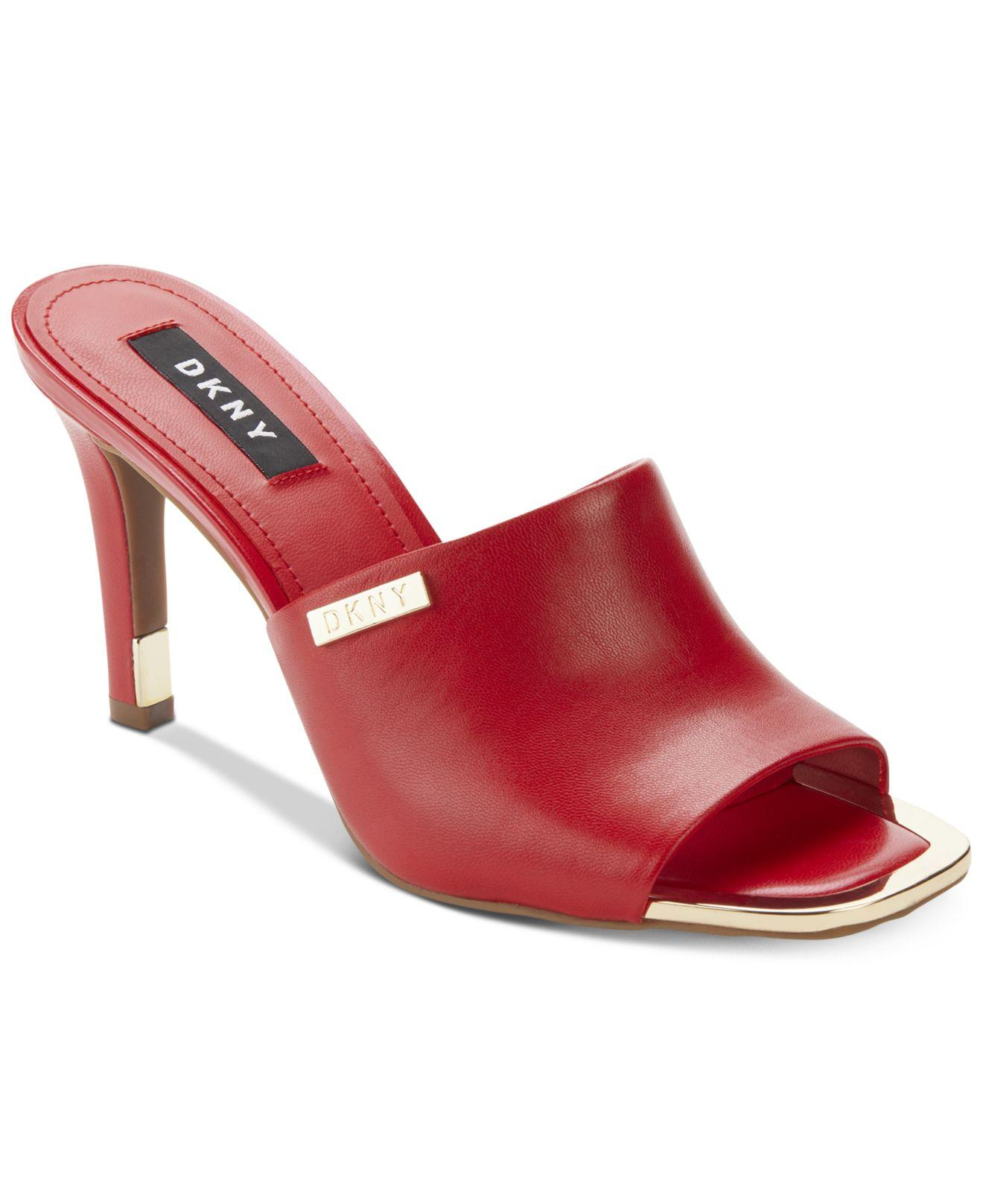 40b724e8c8 DKNY Bronx Dress Sandals, Created For Macy's in Red - Lyst
