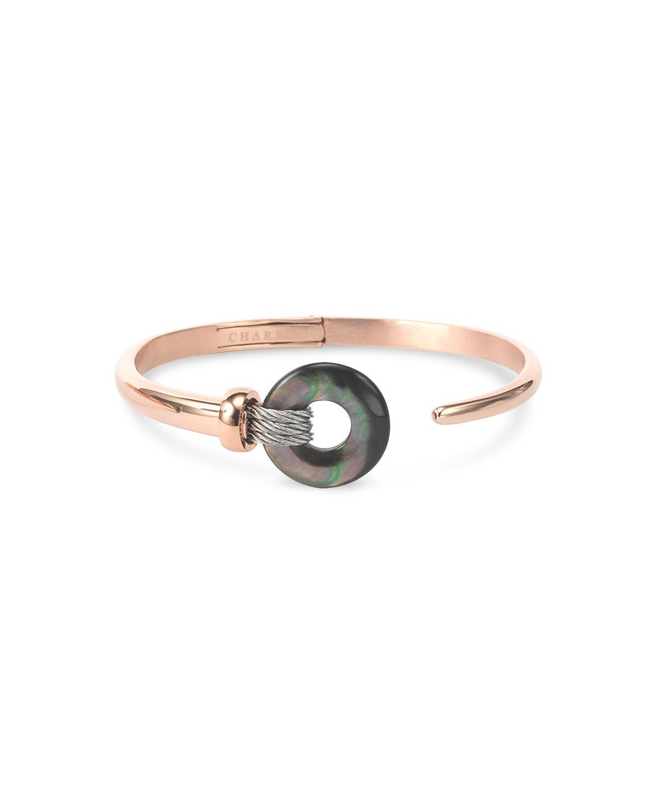 6e0ba0e3d7e Lyst charriol black mother of pearl two tone bangle bracelet jpg 1320x1616  Charriol bracelets women leather