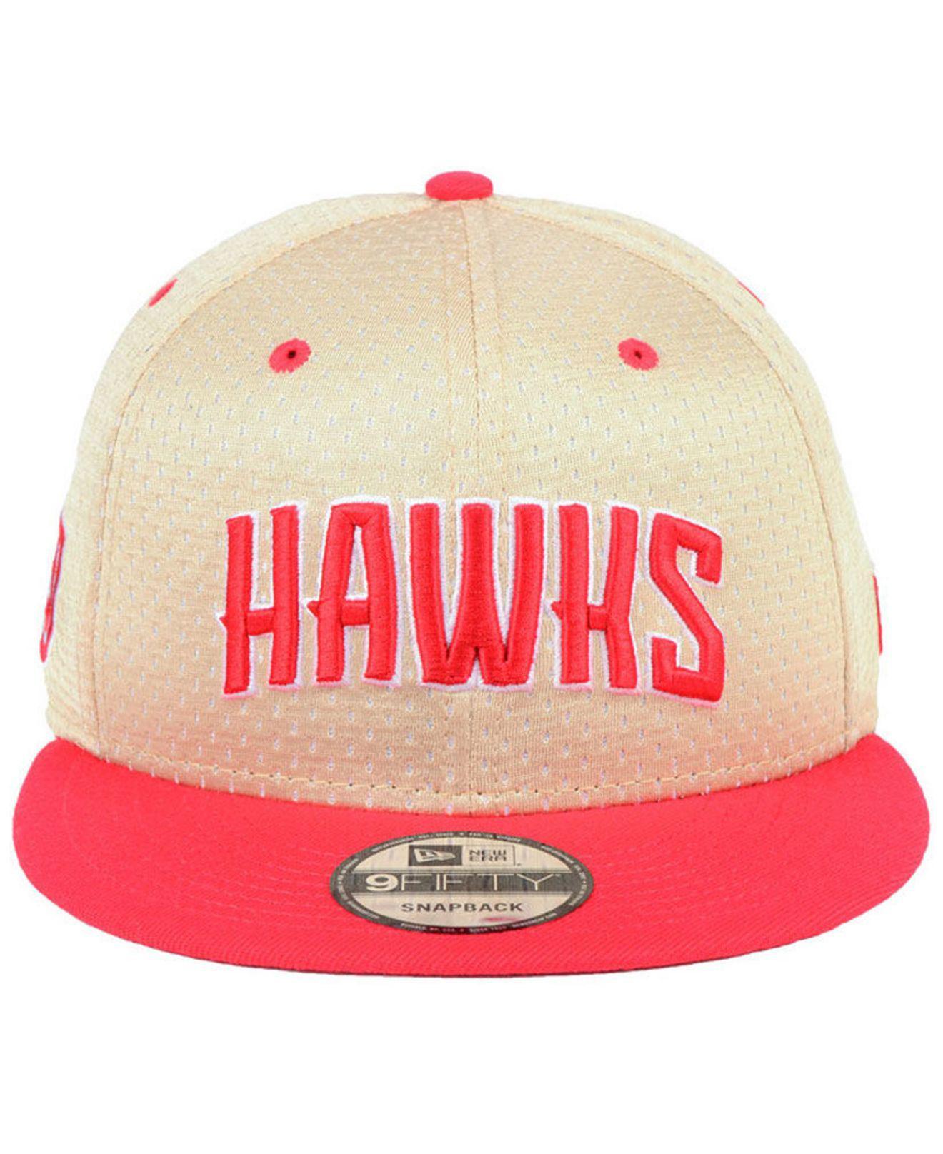 brand new 1f7b9 c0191 Lyst - KTZ Atlanta Hawks Champagne 9fifty Snapback Cap in Red for Men