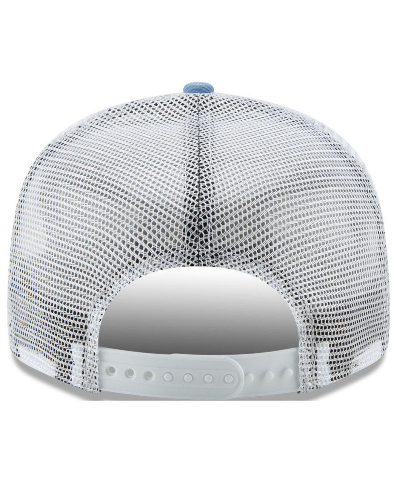 timeless design 560f2 ee592 KTZ - Blue North Carolina Tar Heels Tc Meshback Snapback Cap for Men -  Lyst. View fullscreen