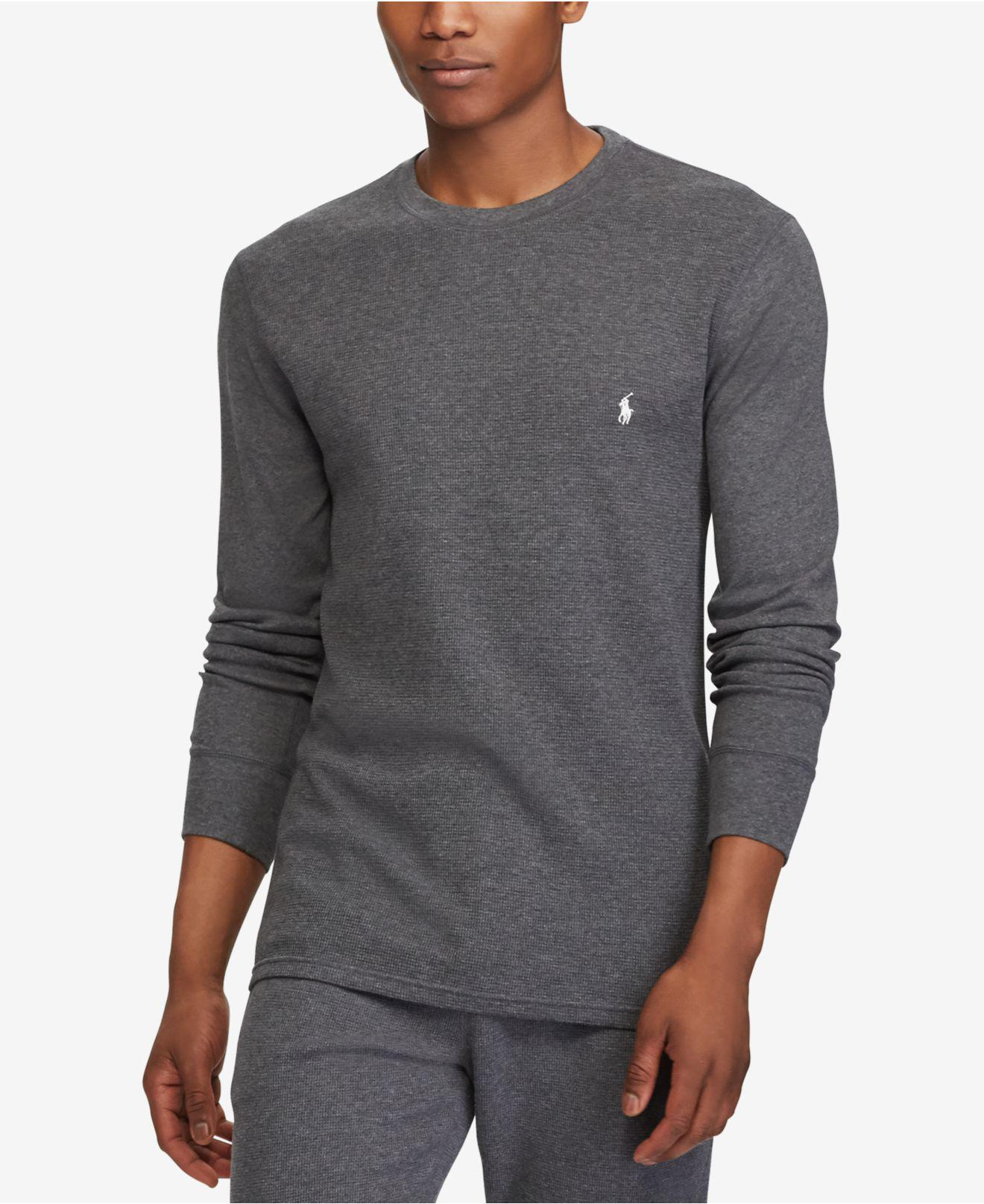 5db72b57 Lyst - Polo Ralph Lauren Waffle-knit Thermal in Gray for Men
