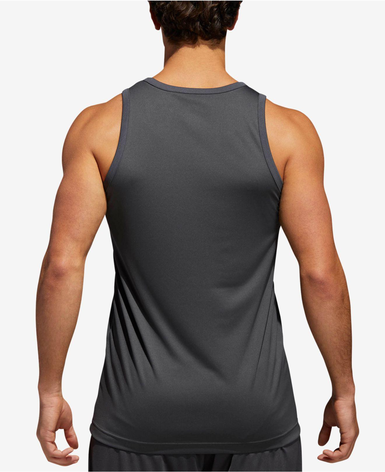 0f9a77a9ab790 Lyst - adidas Basketball Tank Top in Gray for Men