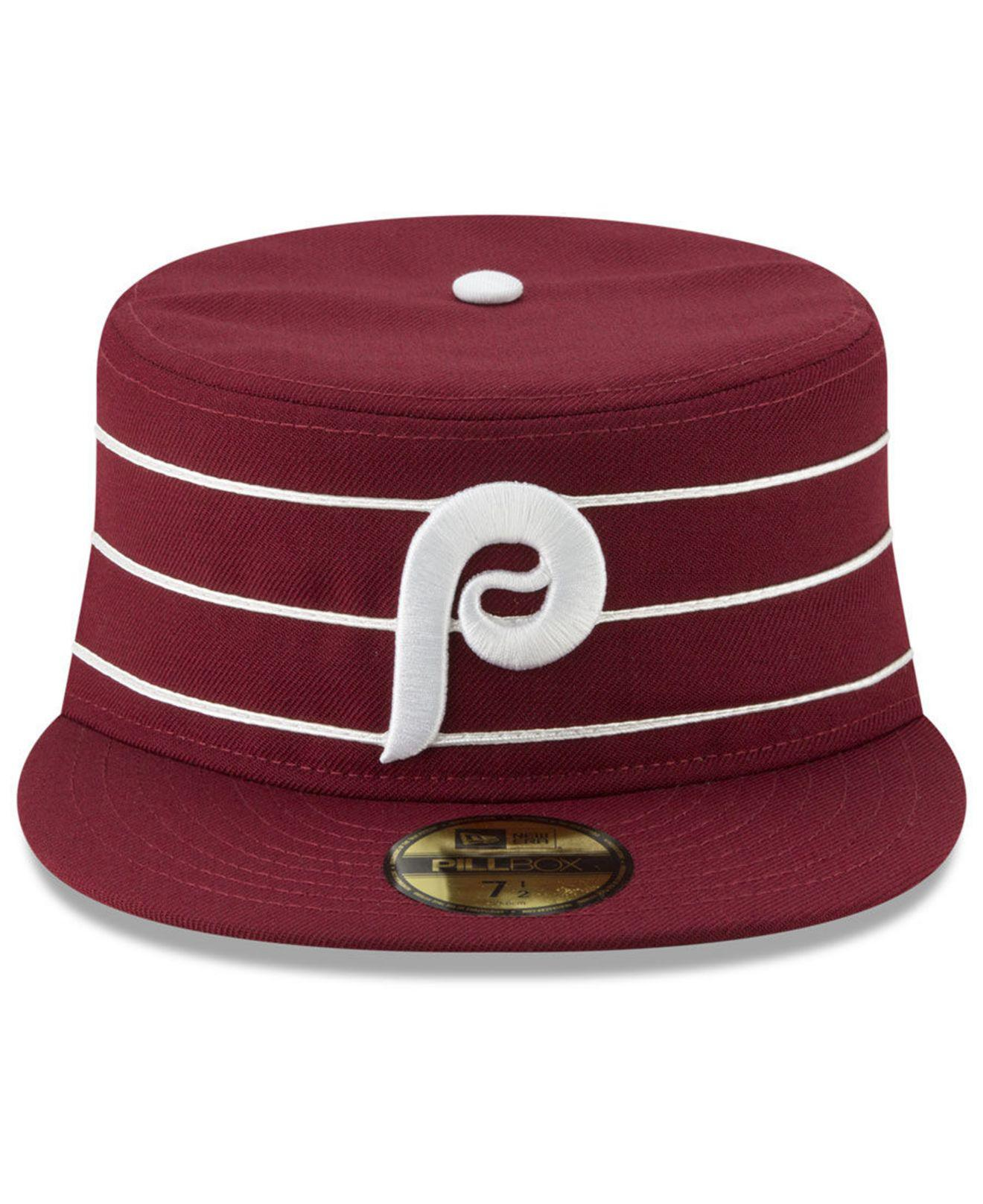 new styles c3441 1b246 ... reduced lyst ktz philadelphia phillies pillbox 59fifty fitted cap in  red for men e2c45 e17ca