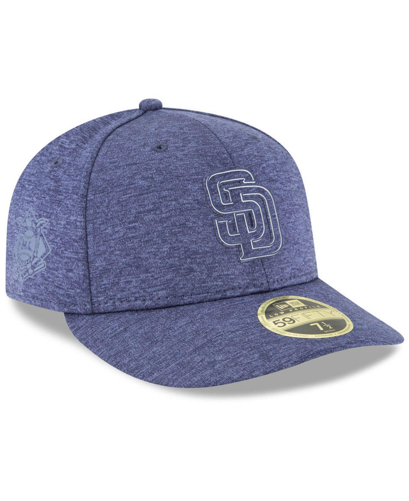 4c3b54be7 Lyst - KTZ San Diego Padres Clubhouse Low Crown 59fifty Fitted Cap ...
