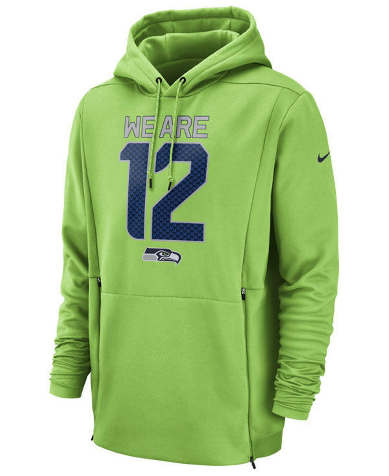 561a01ac8 Lyst - Nike Seattle Seahawks Sideline Player Local Therma Hoodie in ...