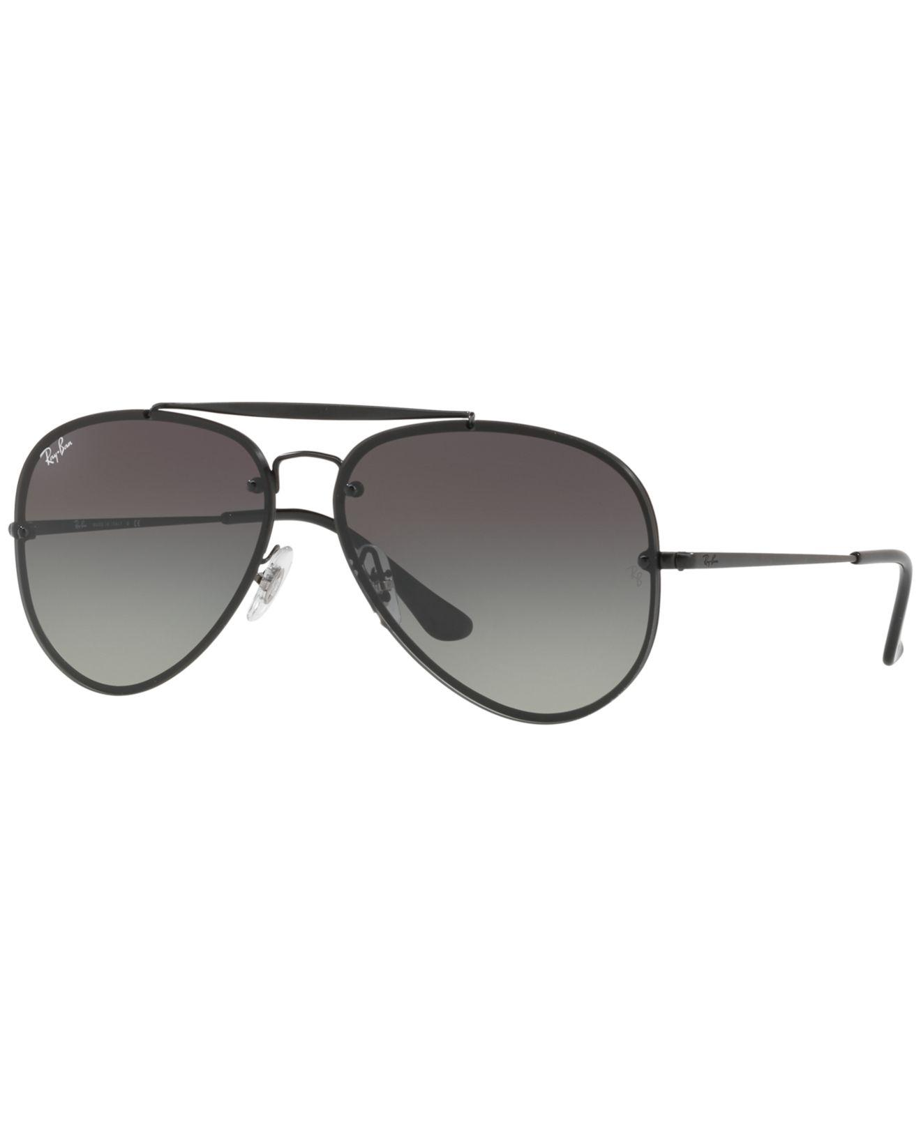 6661e0a266b43 Ray-Ban Rb3584 Aviator Sunglasses in Black for Men - Lyst