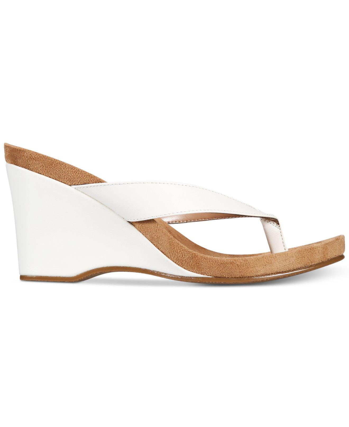 b91684ef8ba22 Lyst - Style   Co. Chicklet Wedge Sandals in White - Save 54%