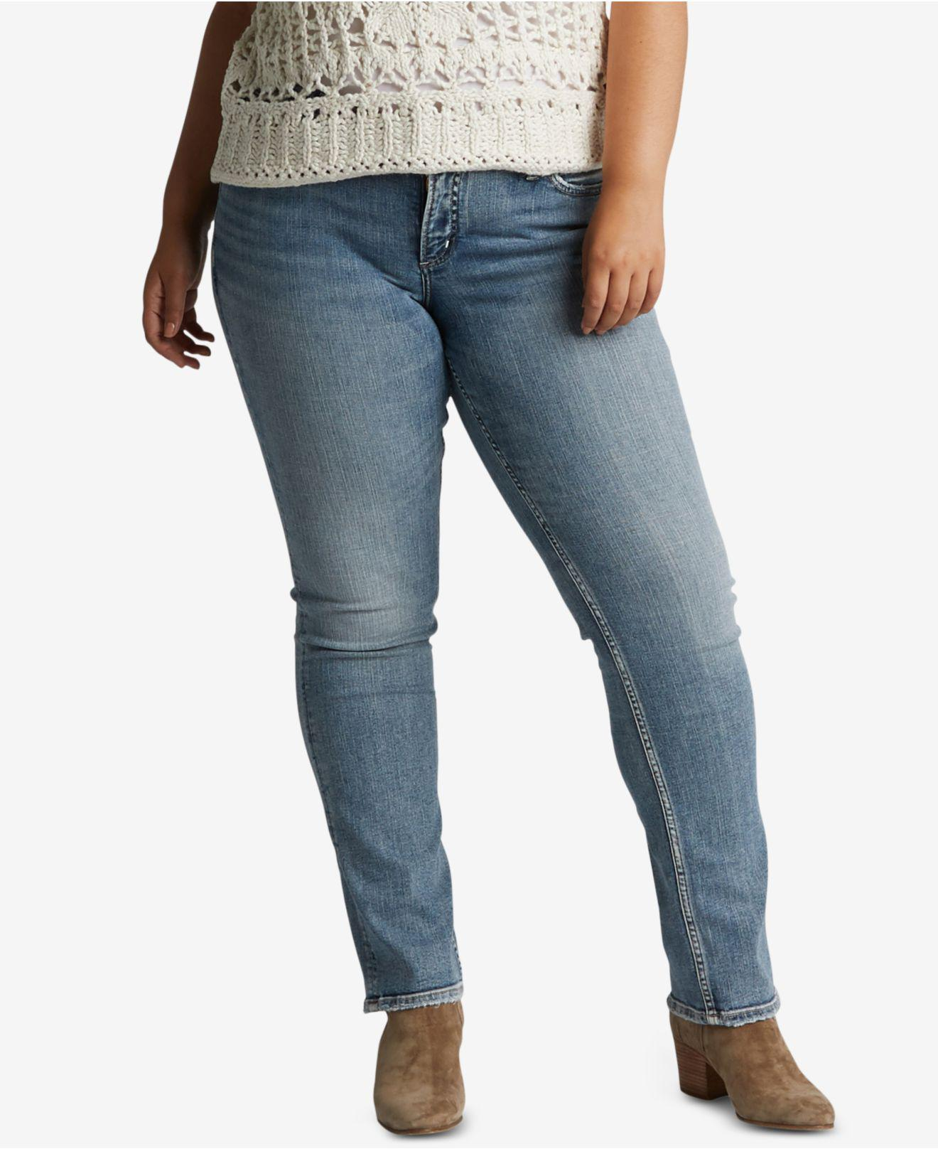 7380701a2d3 Lyst - Silver Jeans Co. Plus Size Suki Straight-leg Jeans in Blue