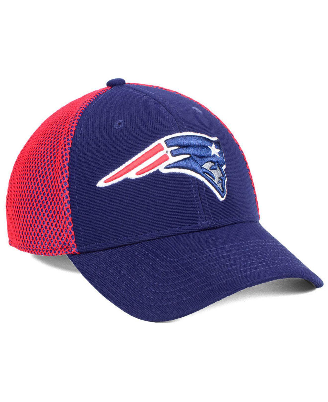 42ef42dc98052 ... purchase 47 brand blue new england patriots comfort contender flex cap  for men lyst. view