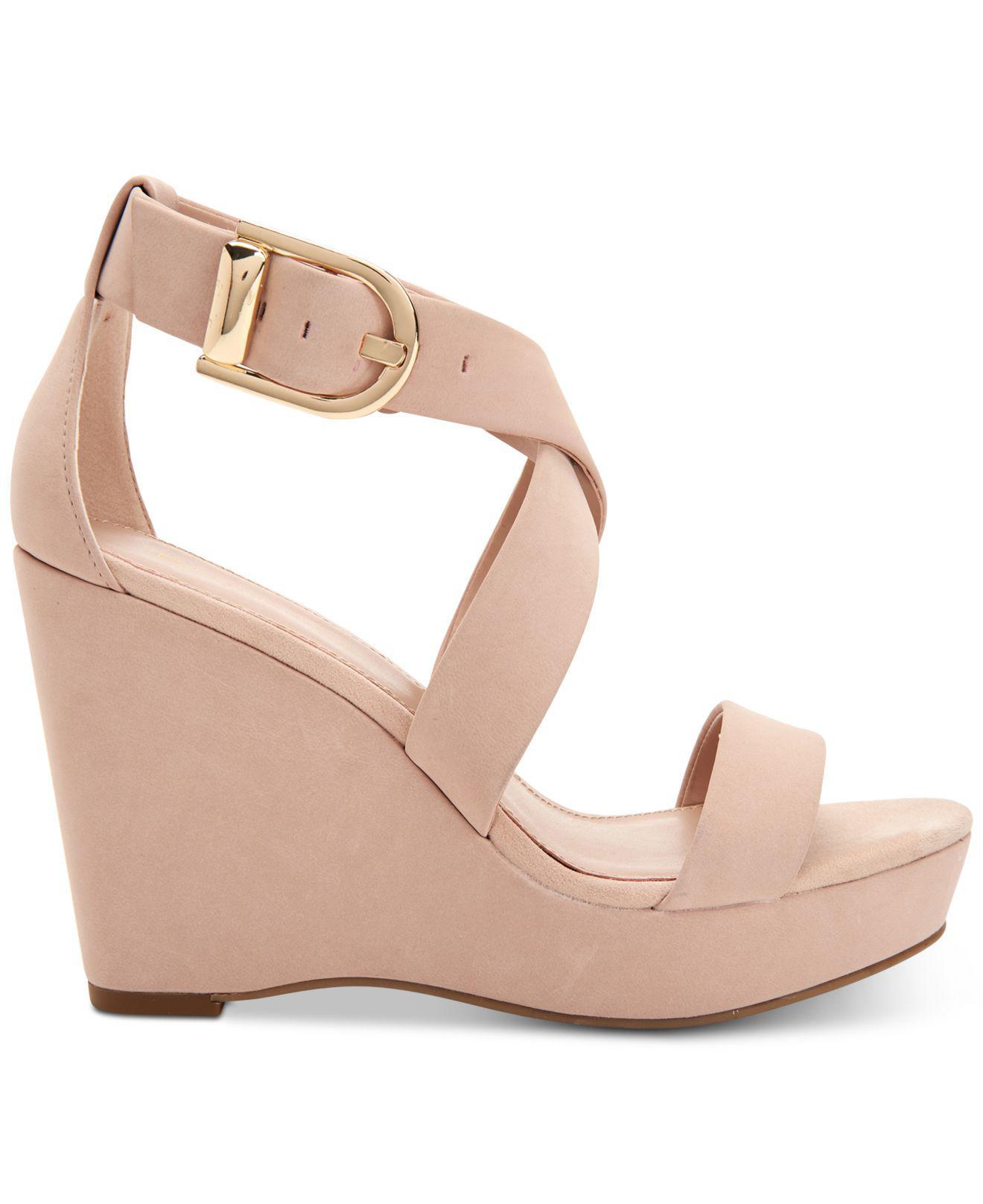 BCBGeneration Jae Platform Wedge Sandals Women's Shoes 3ALwS4