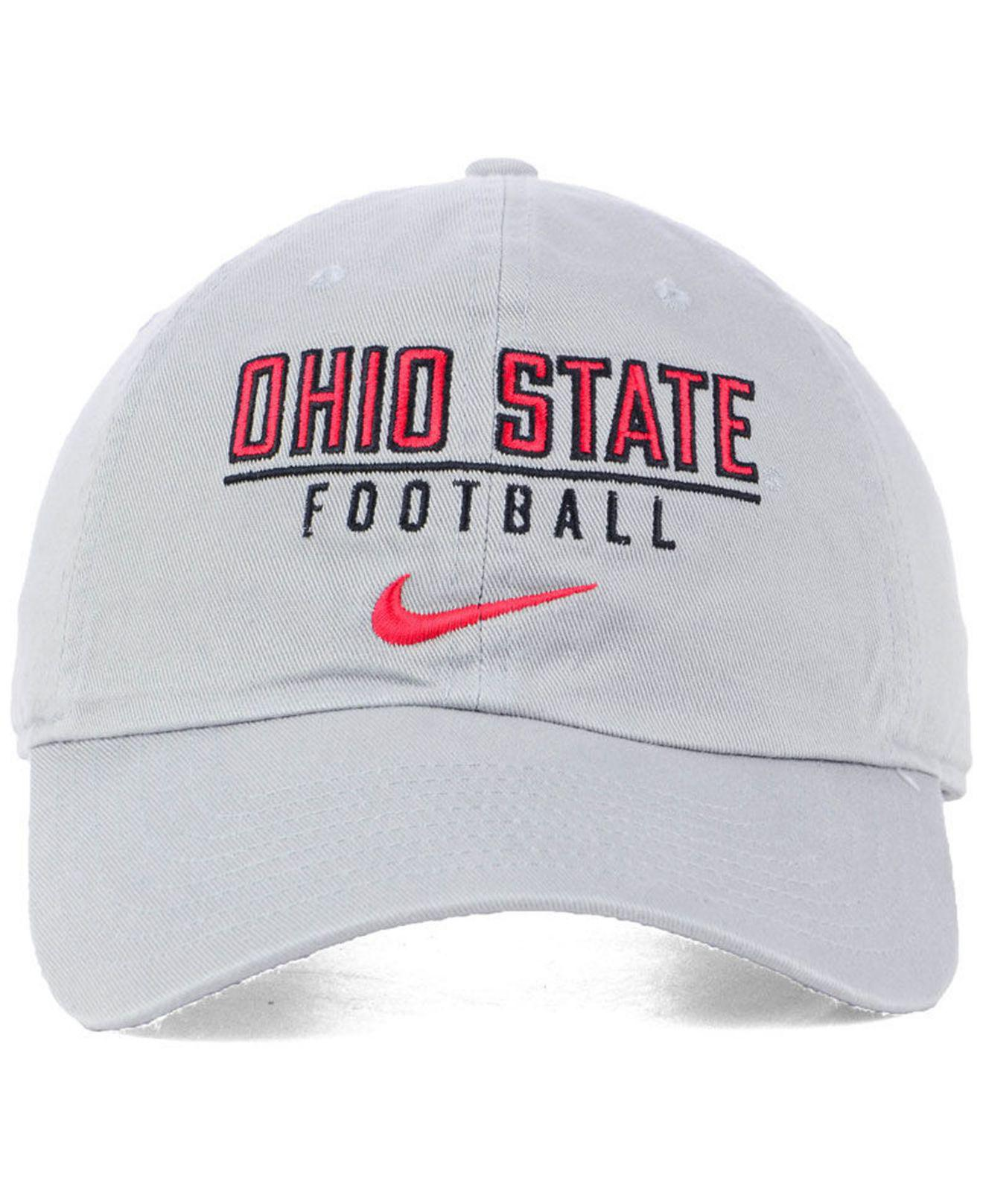 pretty nice e96bf 6f9b6 Lyst - Nike Ohio State Buckeyes Campus Sport Adjustable Cap in Gray for Men