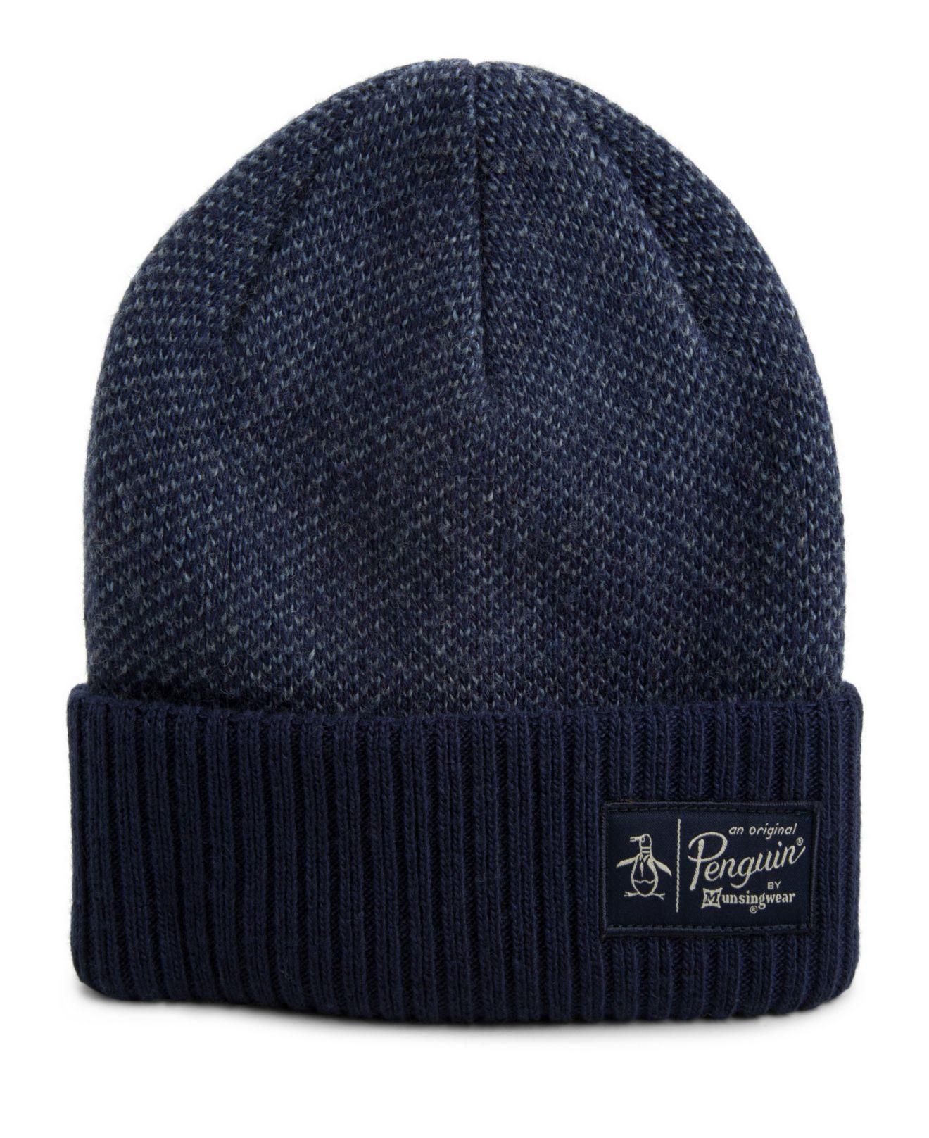 Lyst - Original Penguin Birdseye Knit Watchcap in Blue for Men 9f7465dac549