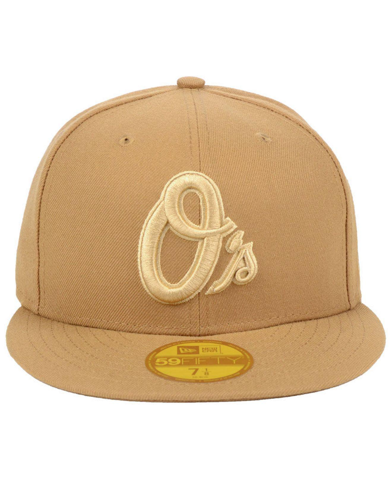 purchase cheap b22e5 6b1f8 ... france lyst ktz baltimore orioles fall prism pack 59fifty fitted cap in  natural for men 13743